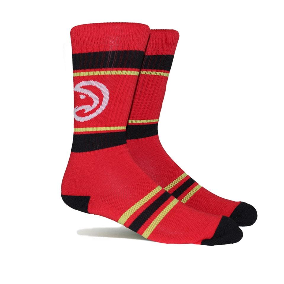 Atlanta Hawks Stripe Crew Socks - Red