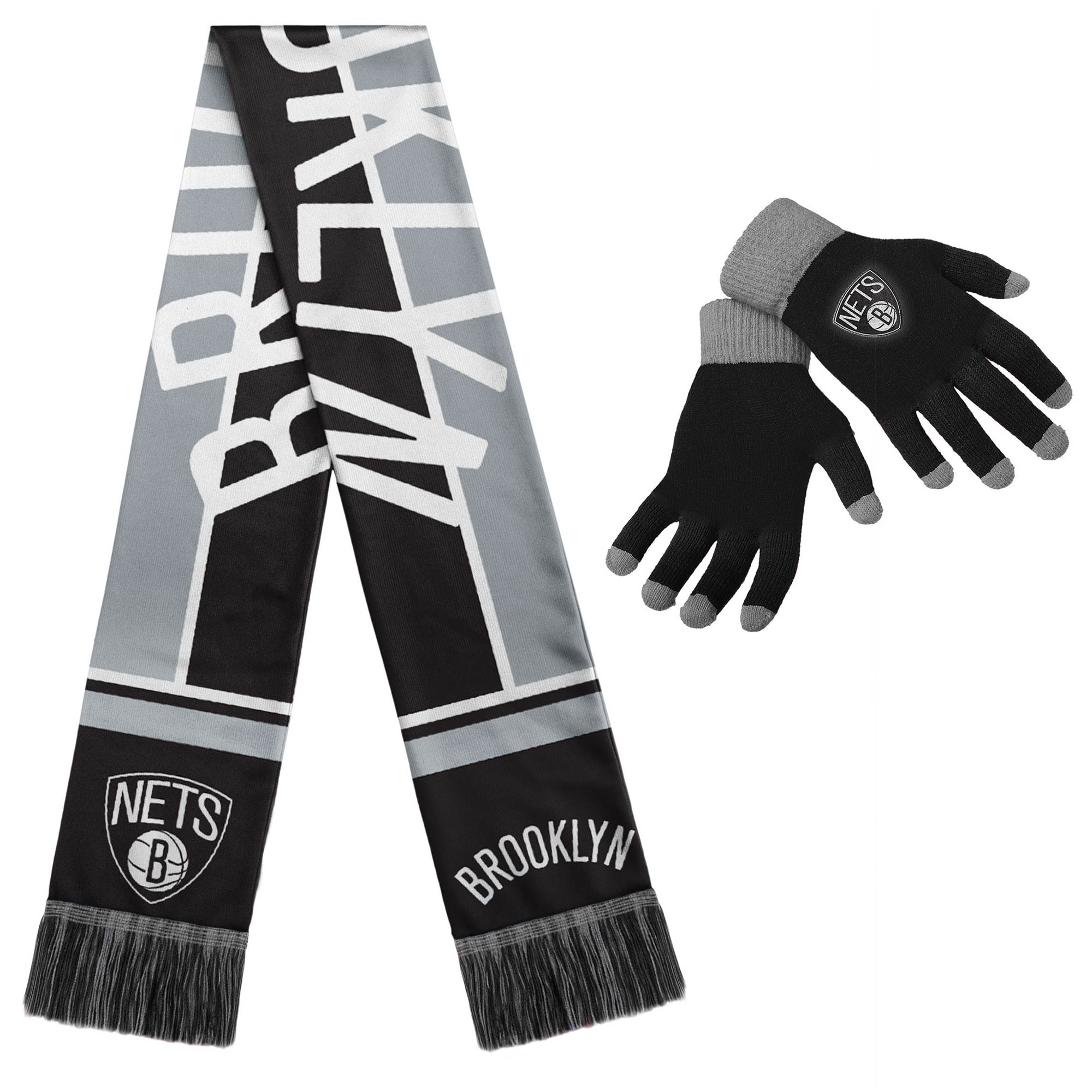 Brooklyn Nets Gloves & Scarf Set