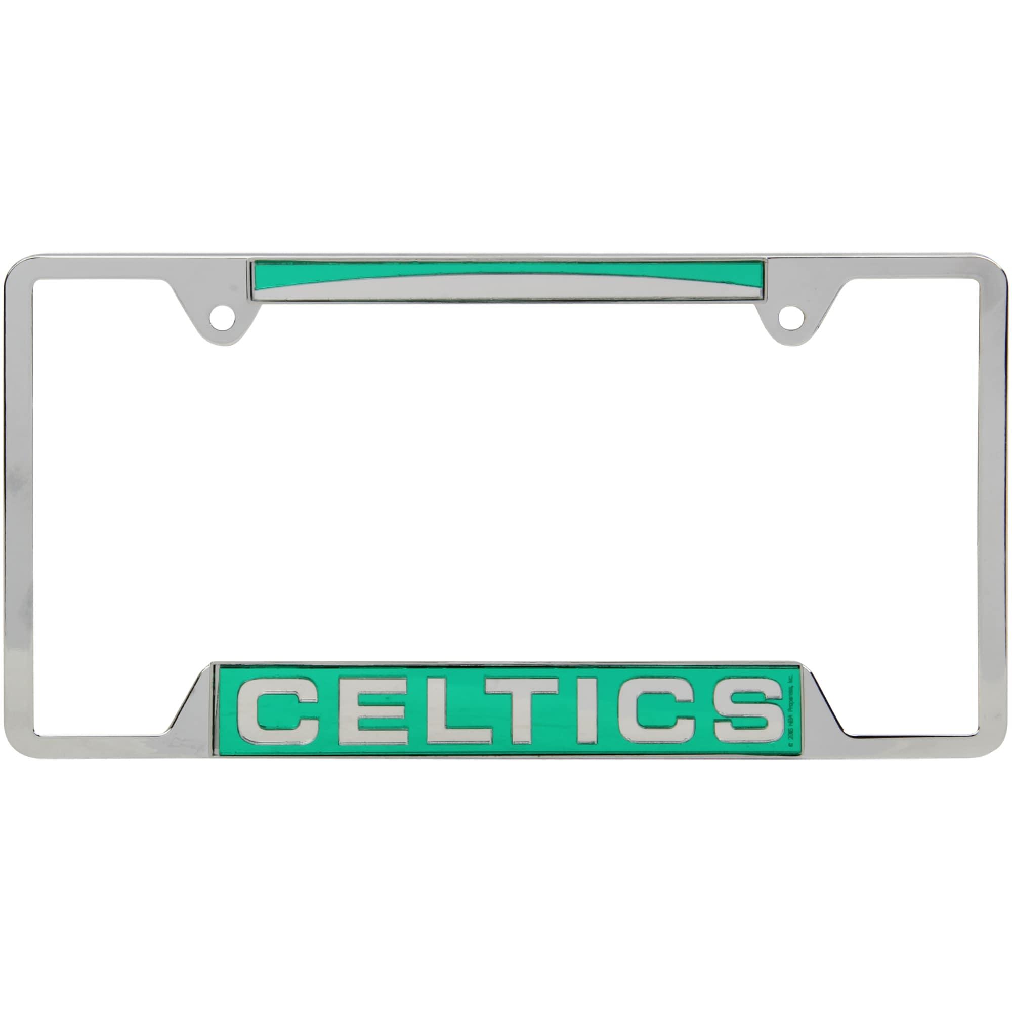 Boston Celtics WinCraft 4-Tab Style Inlaid Metal License Plate Frame