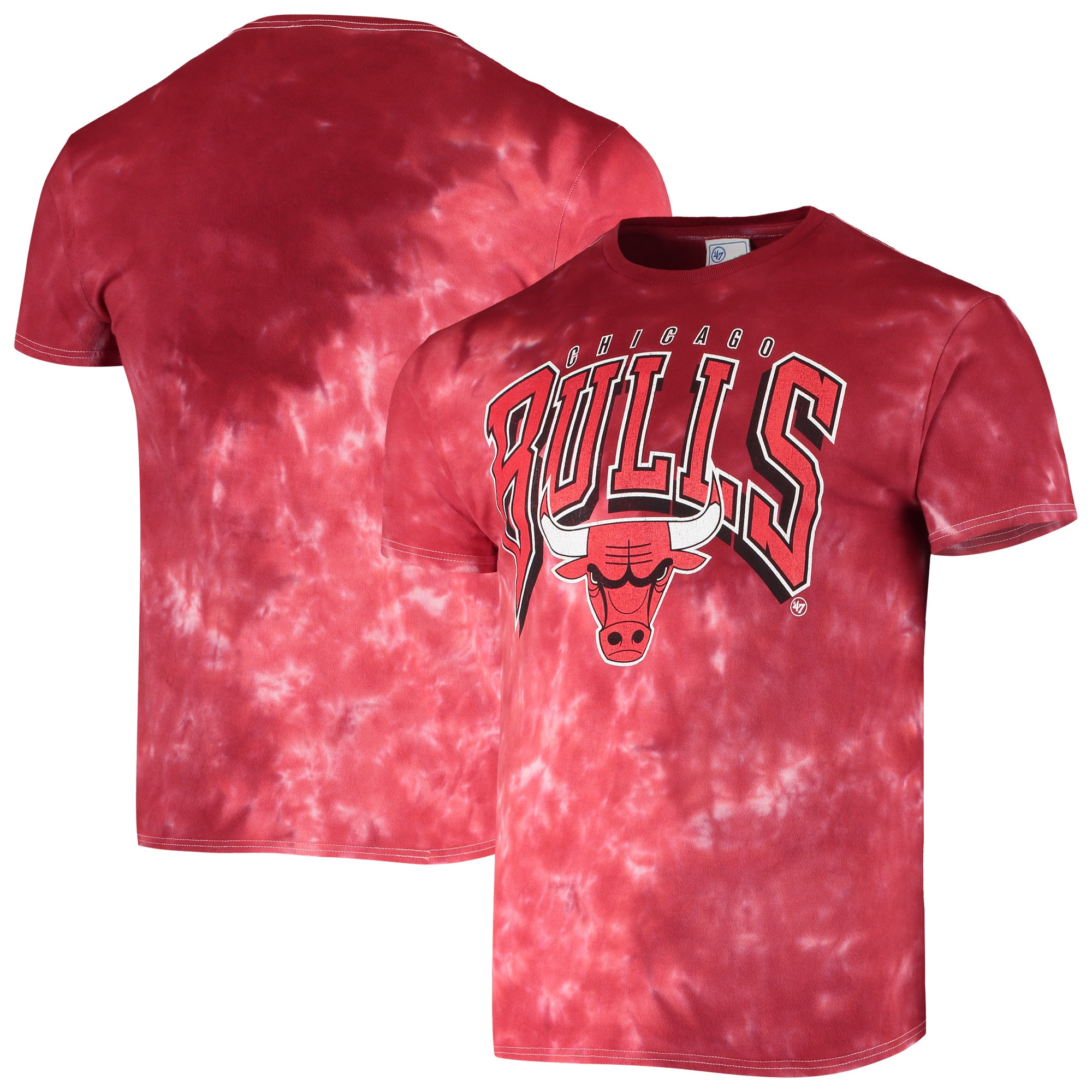 Chicago Bulls '47 Vintage Tie Dye Tubular T-Shirt - Red