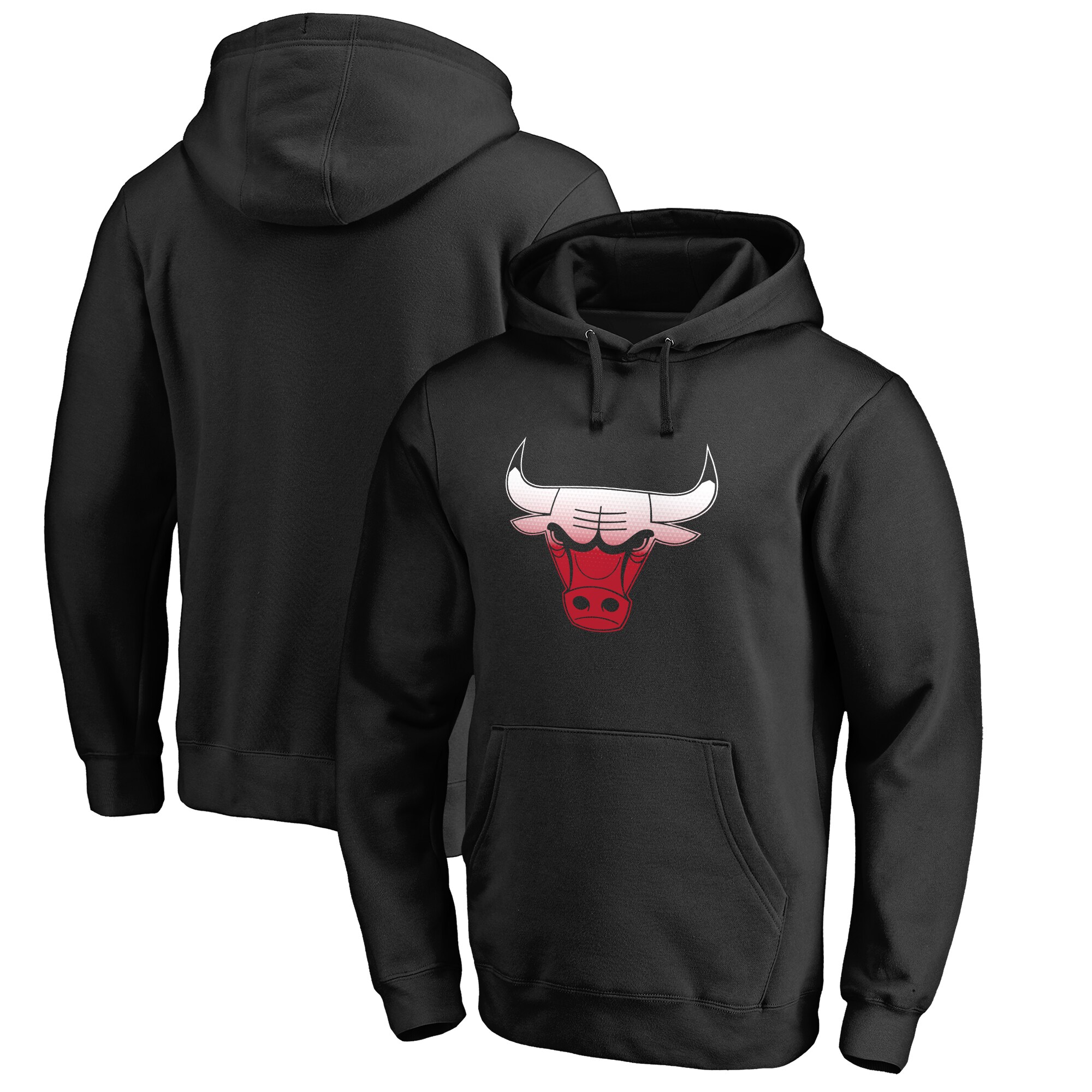Chicago Bulls Fanatics Branded Big & Tall Gradient Logo Pullover Hoodie - Black