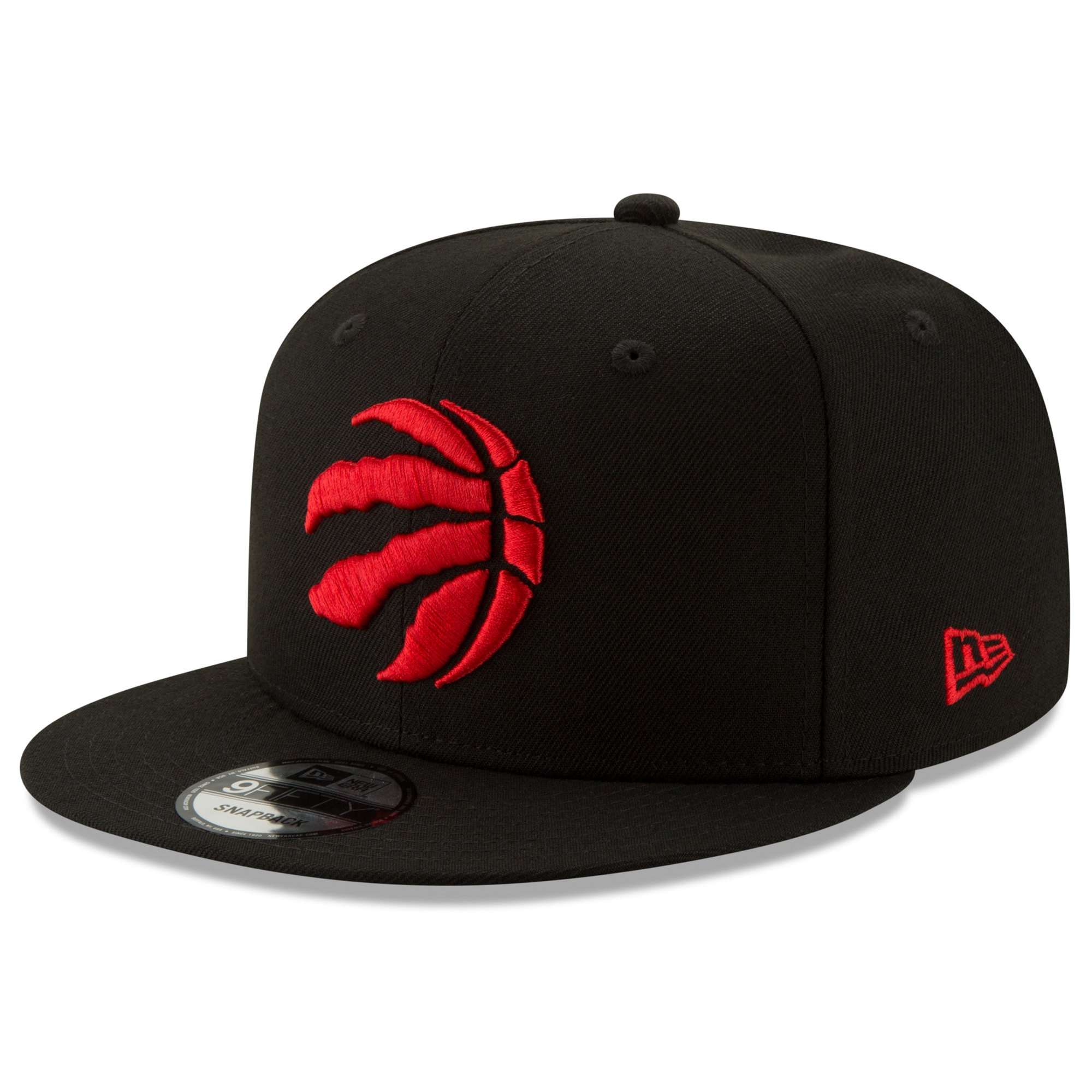 Toronto Raptors New Era Basic 9FIFTY Snapback Hat - Black