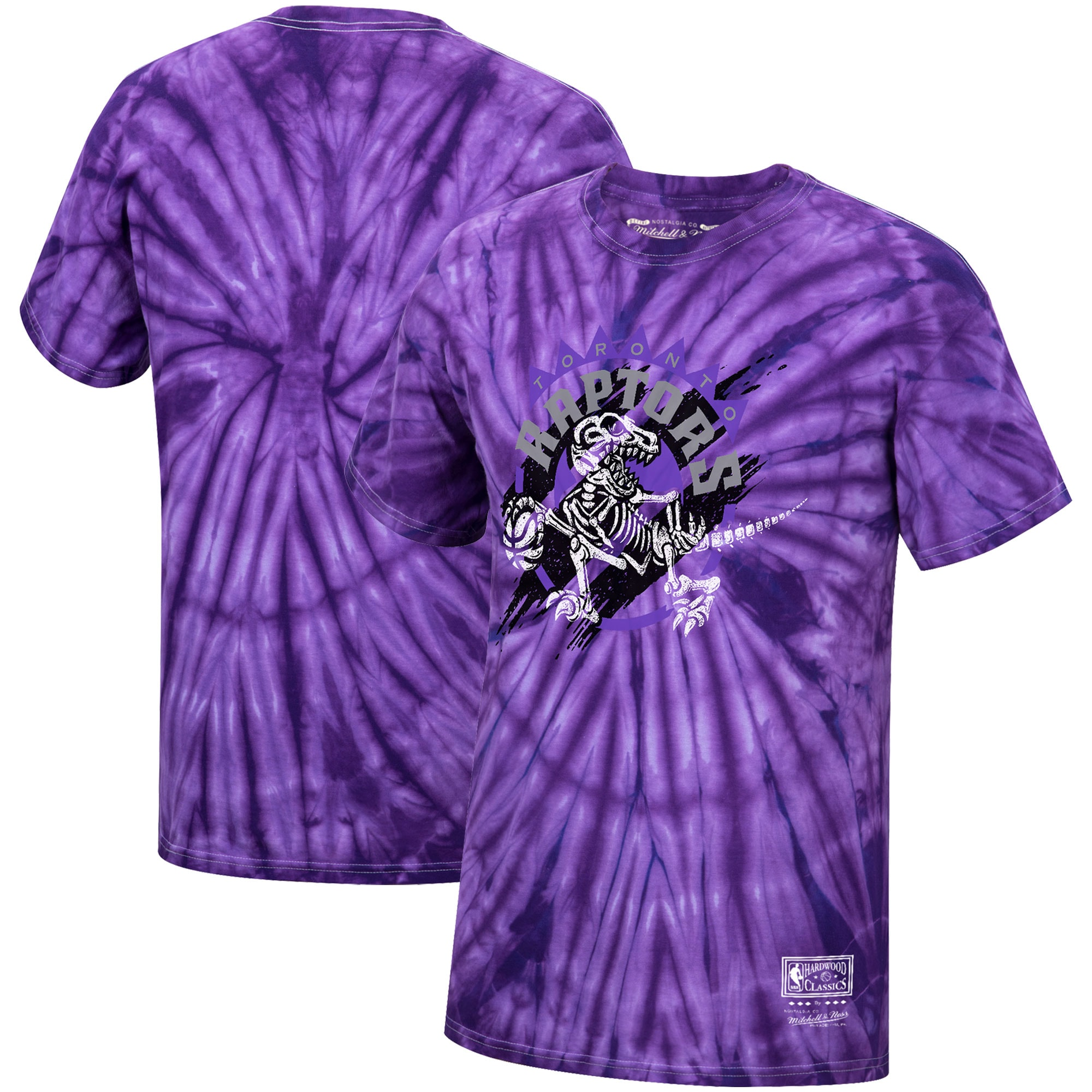 Toronto Raptors Mitchell & Ness Hardwood Classics Thrashed Playoffs T-Shirt - Purple