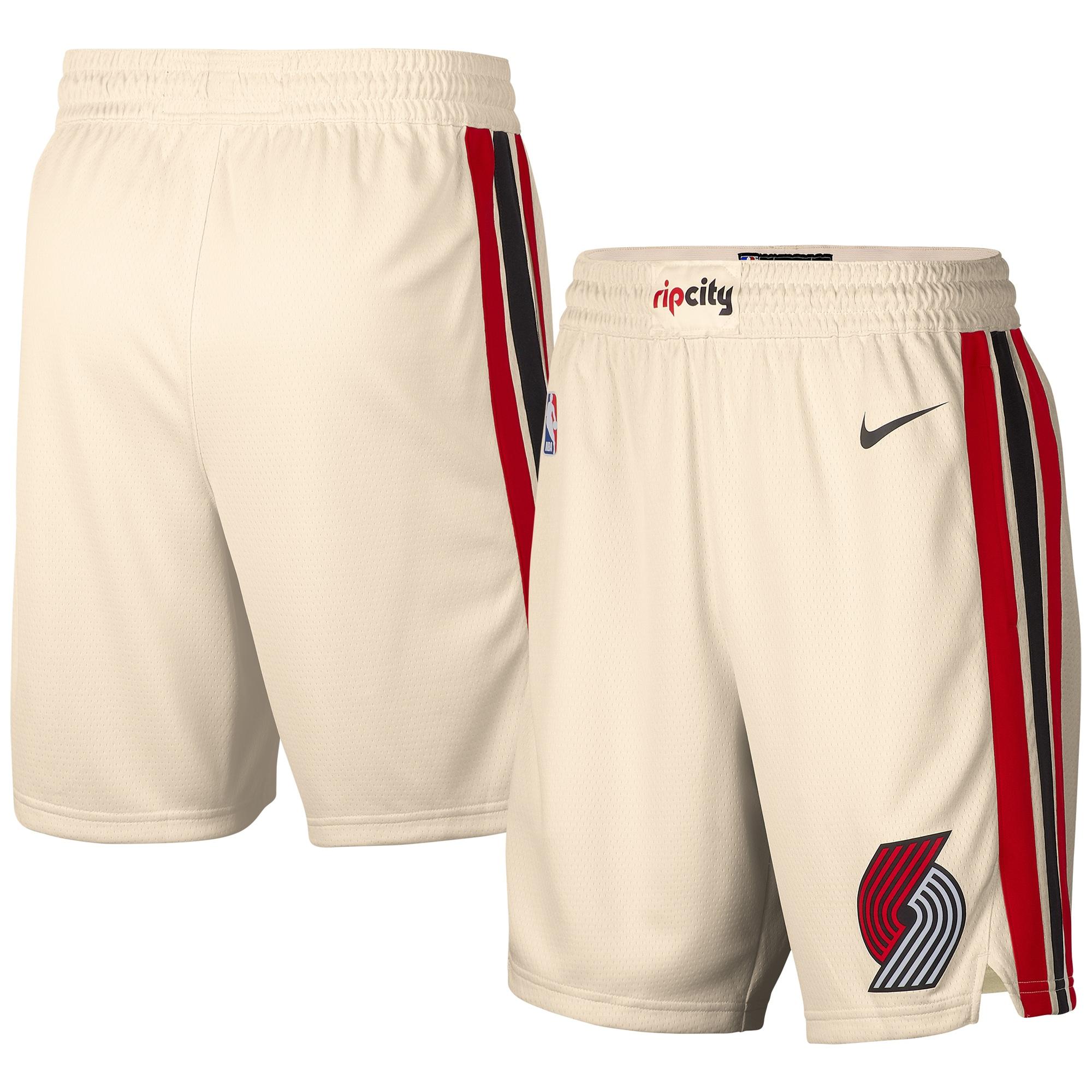 Portland Trail Blazers Nike 2019/20 City Edition Swingman Shorts - Cream