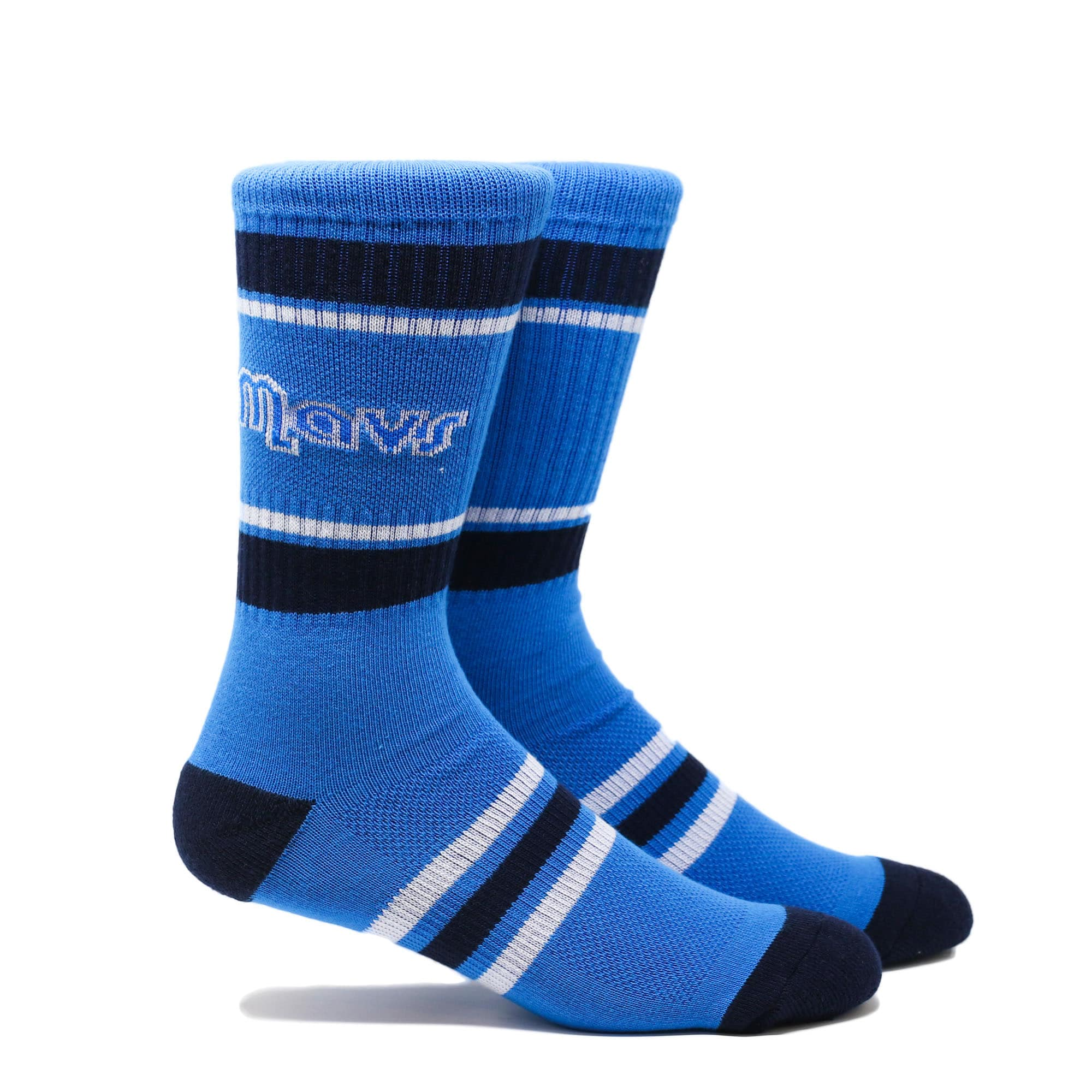 Dallas Mavericks Stripe Crew Socks - Blue