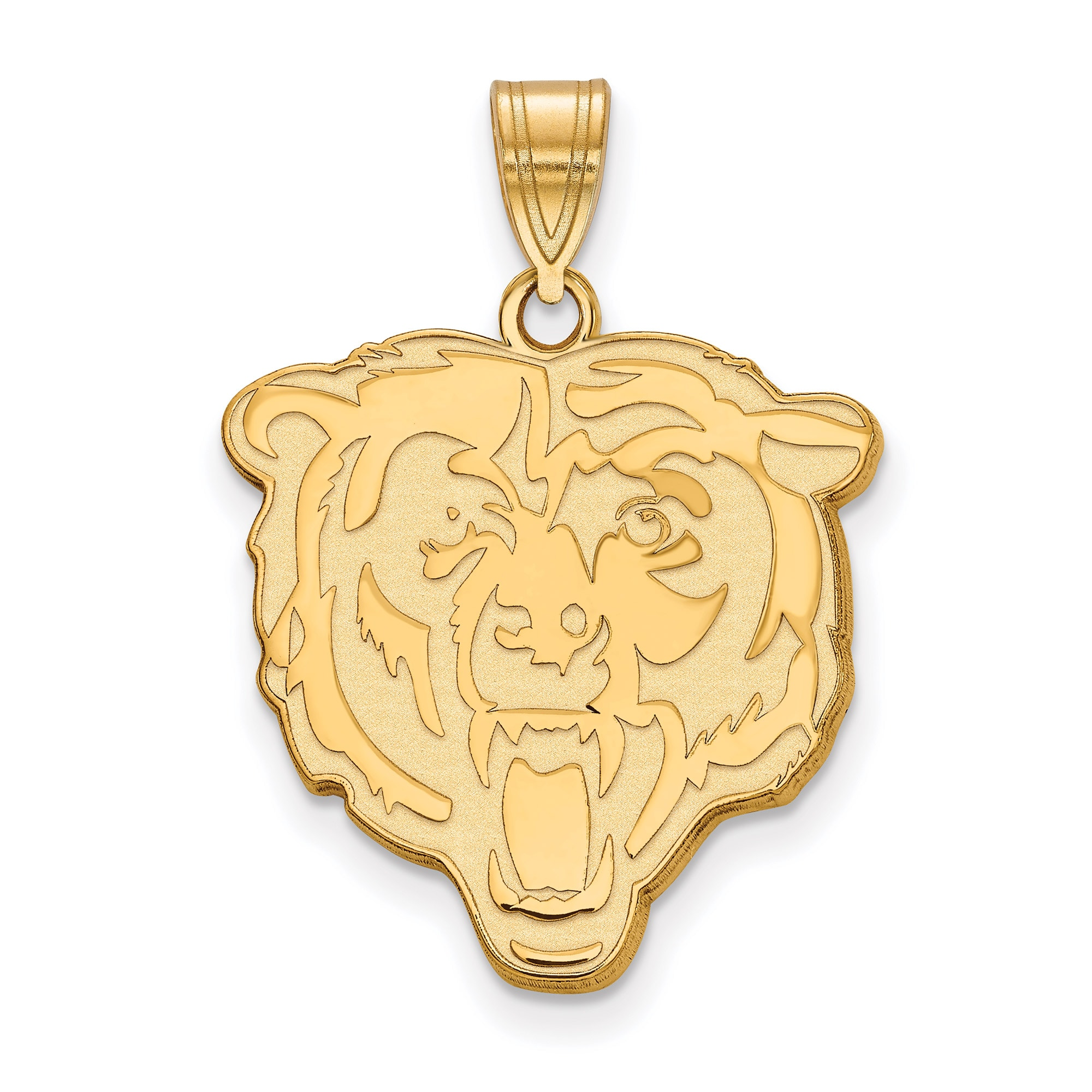 Chicago Bears Gold-Plated Large Logo Pendant