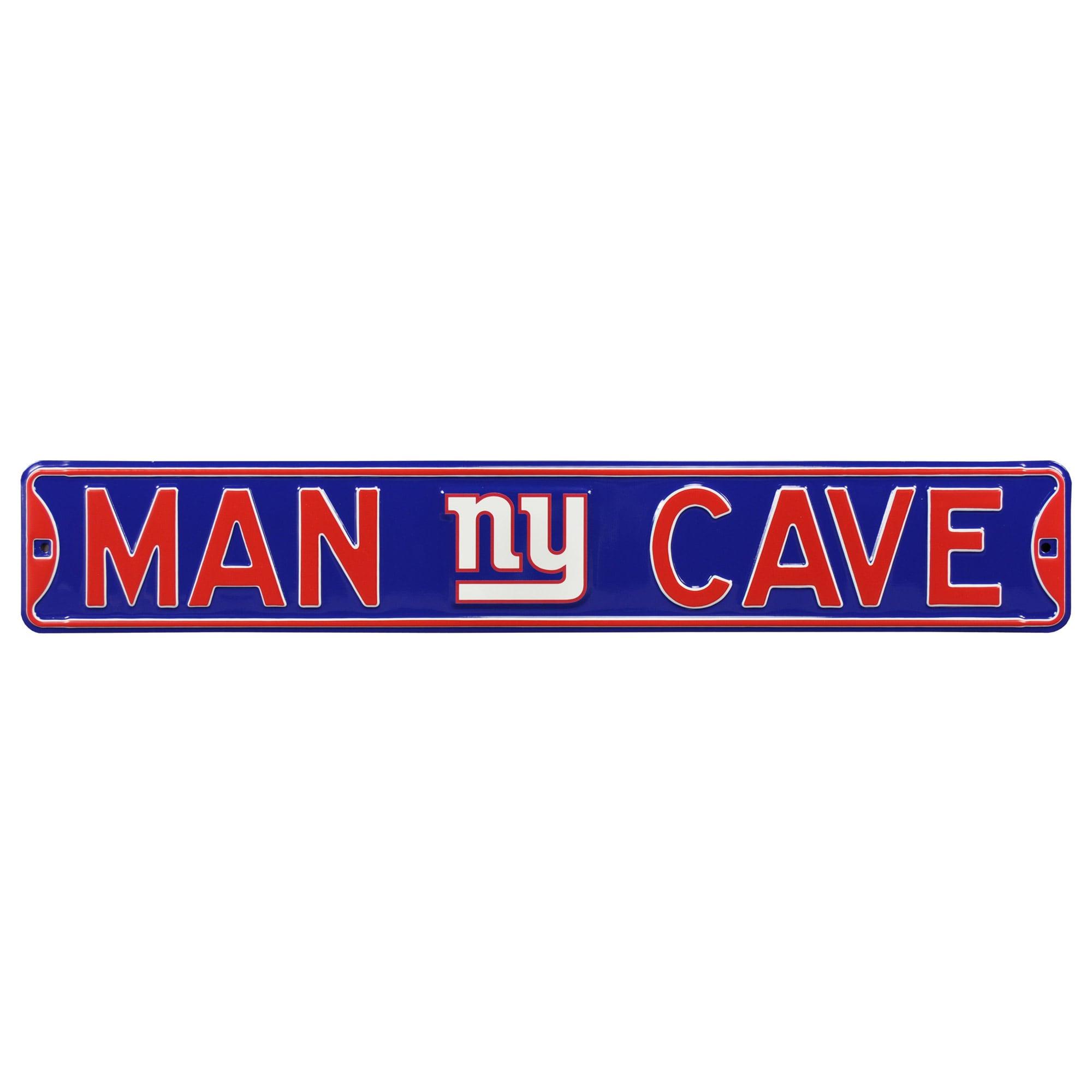 "New York Giants 6"" x 36"" Man Cave Steel Street Sign - Blue"