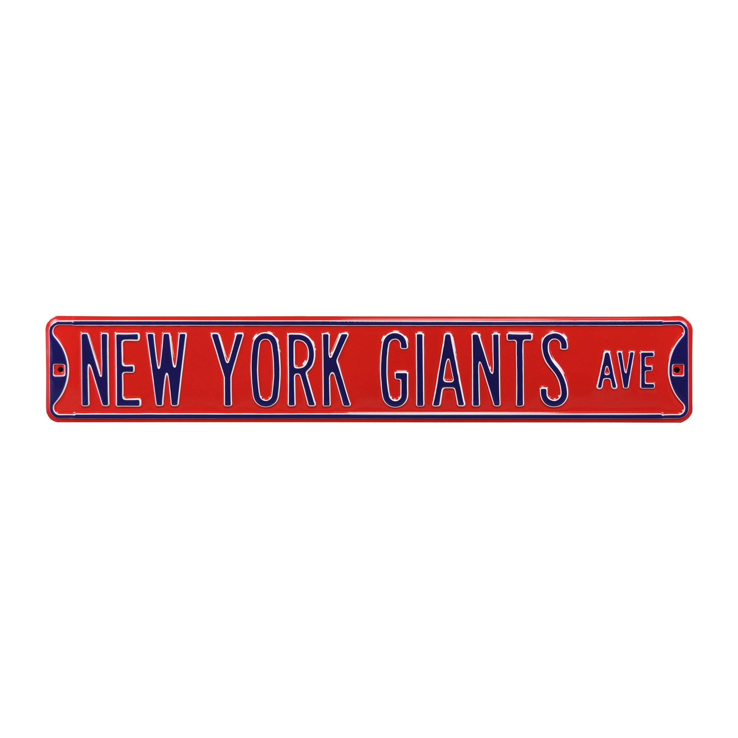 "New York Giants 6"" x 36"" Steel Street Sign - Red"