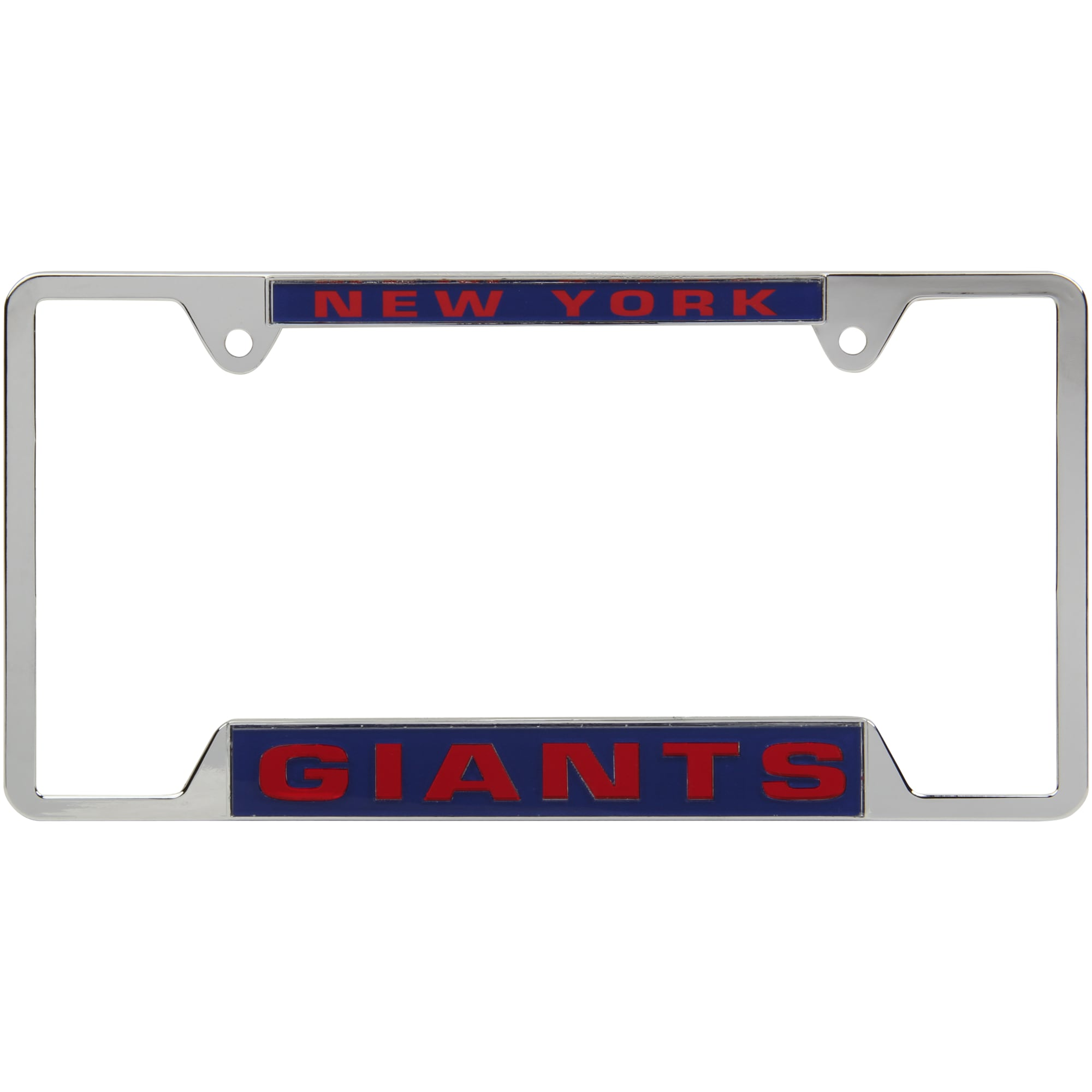 New York Giants WinCraft 4-Tab Style Inlaid Metal License Plate Frame