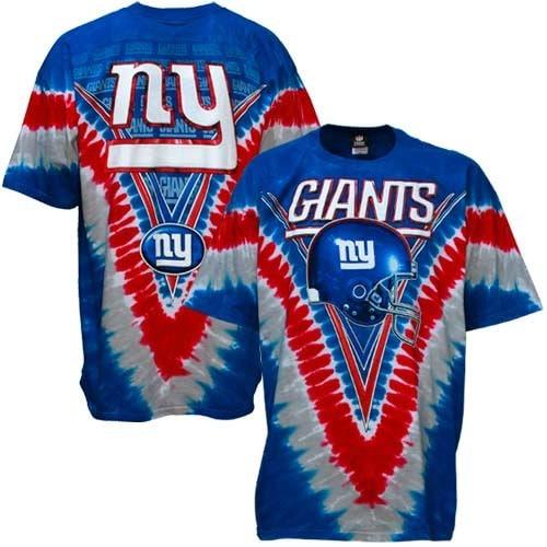 New York Giants Majestic V Tie-Dye T-Shirt - Royal