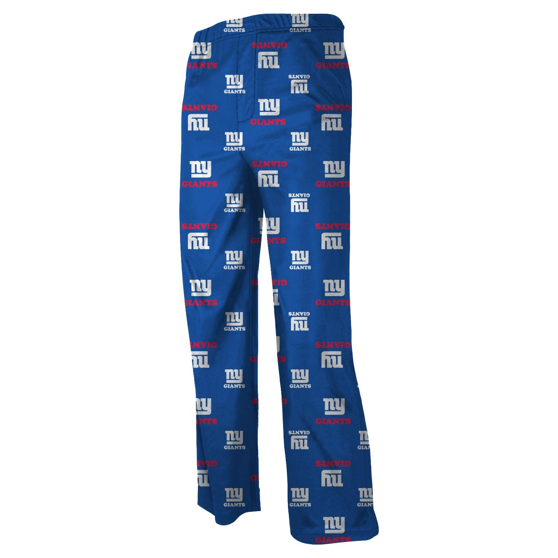 New York Giants Youth All Over Print Lounge Pants - Royal Blue
