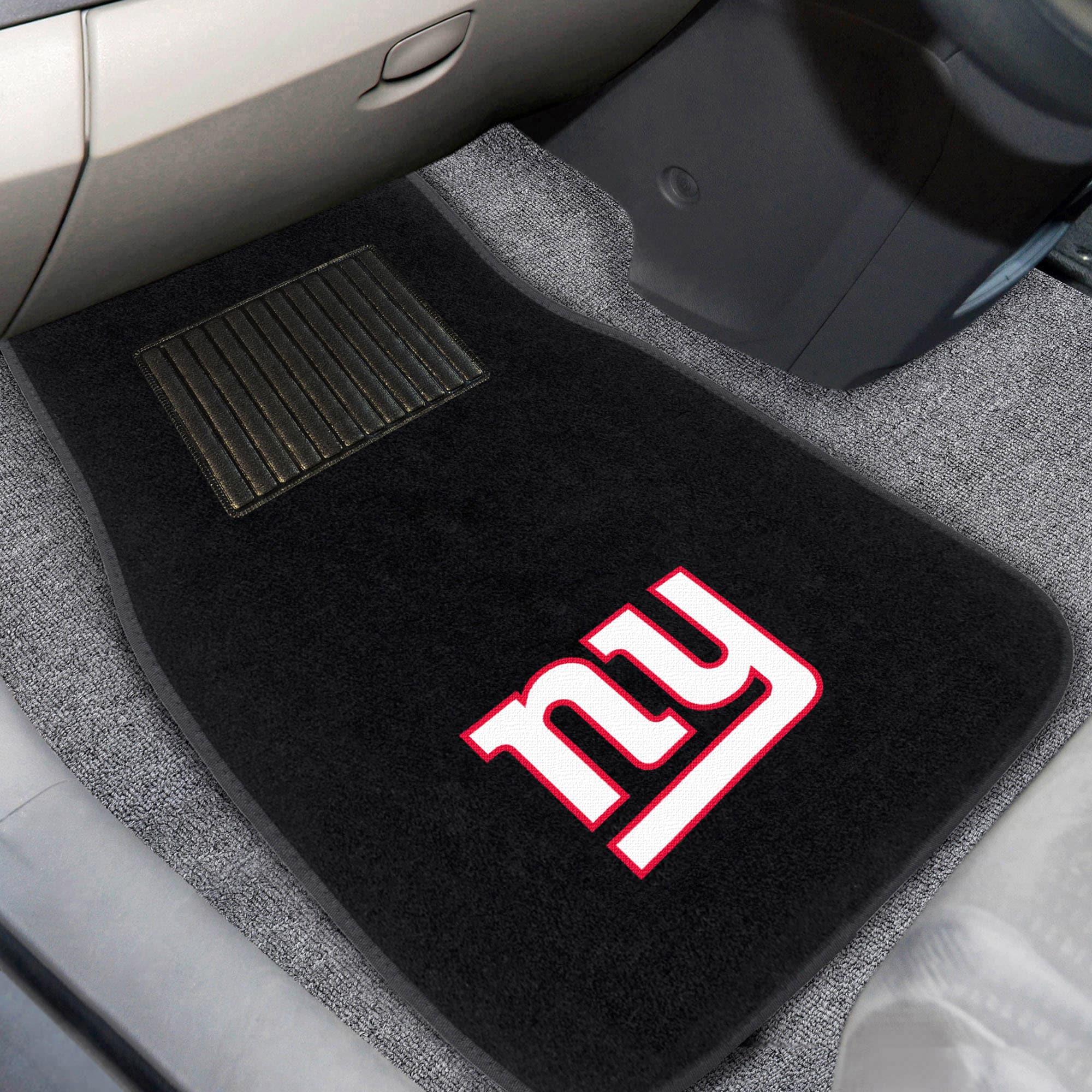 New York Giants 2-Piece Embroidered Car Mat Set