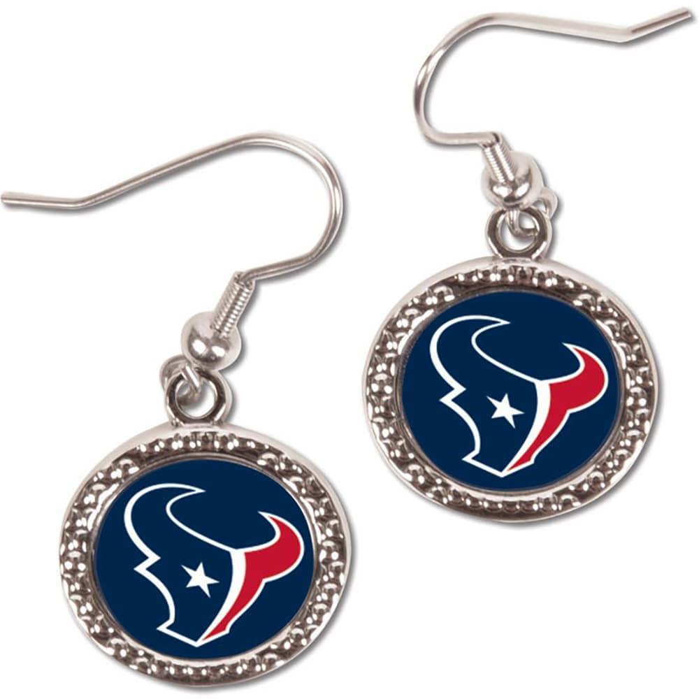 Houston Texans WinCraft Women's Round Dangle Earrings