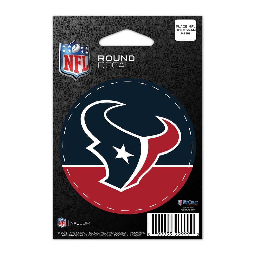 "Houston Texans WinCraft 3"" Round Decal"