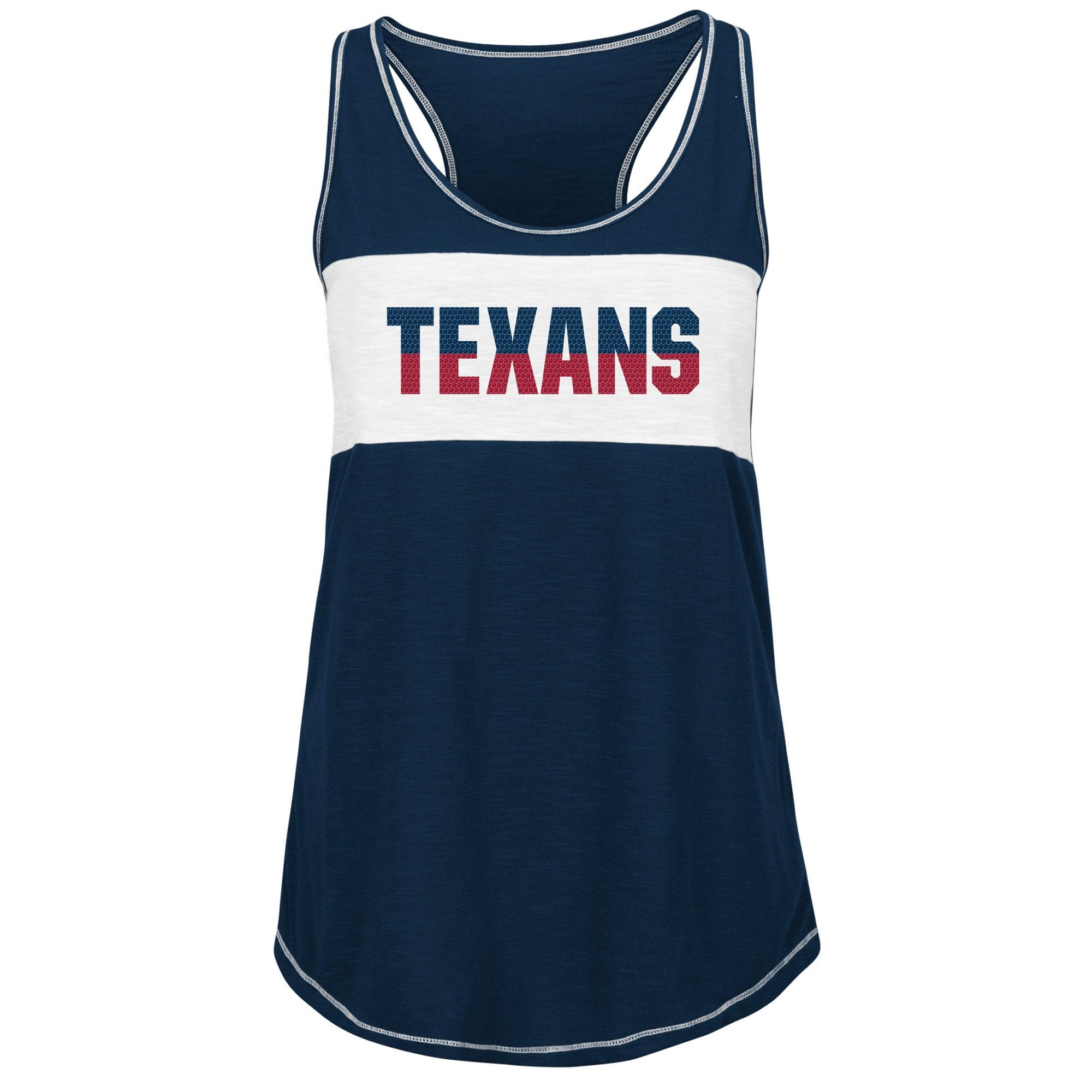 Houston Texans Majestic Women's Game Time Glitz Tank Top - Navy