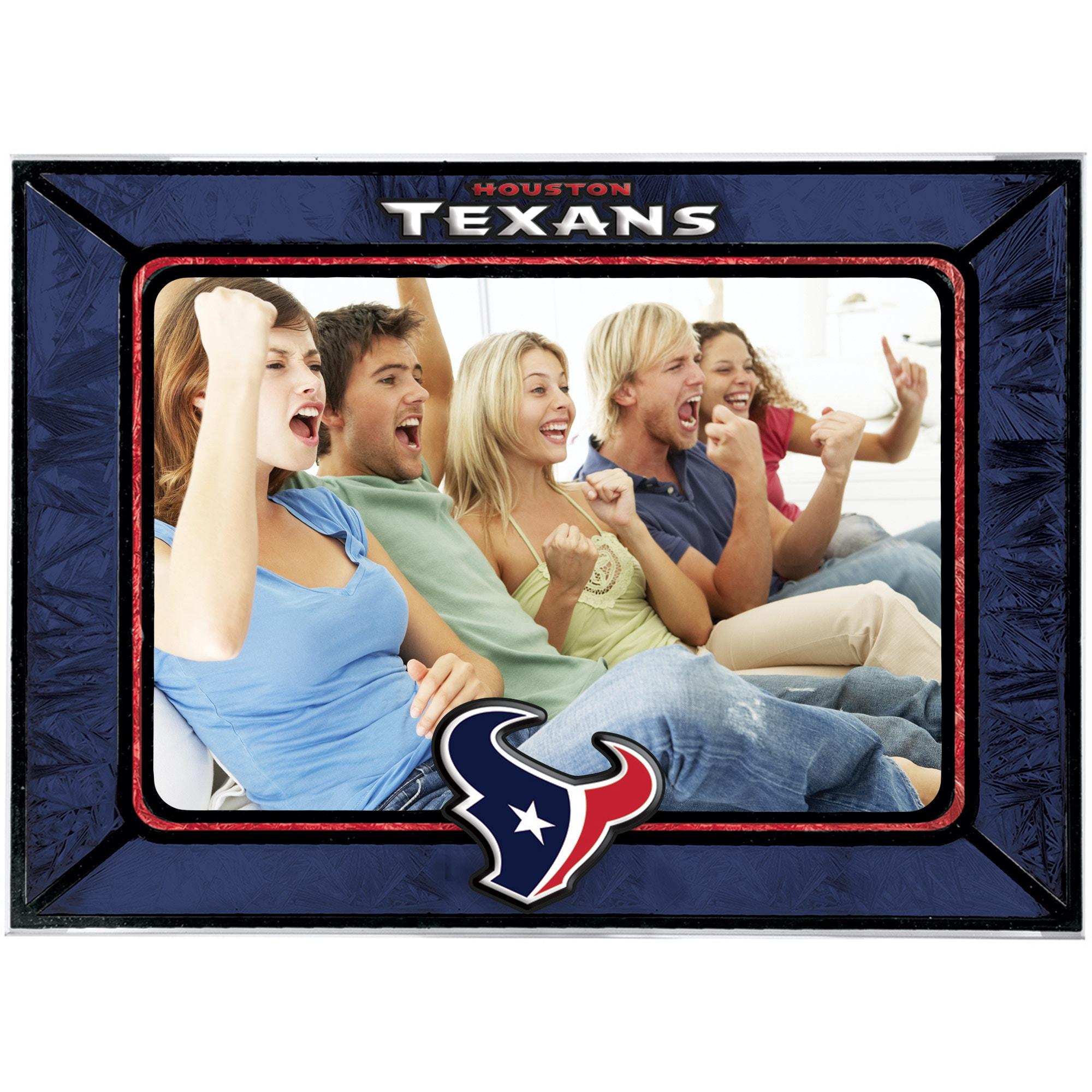 Houston Texans Horizontal Art Glass Frame