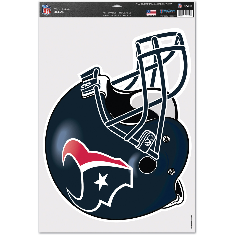 "Houston Texans WinCraft 11"" x 17"" Multi-Use Helmet Decal"