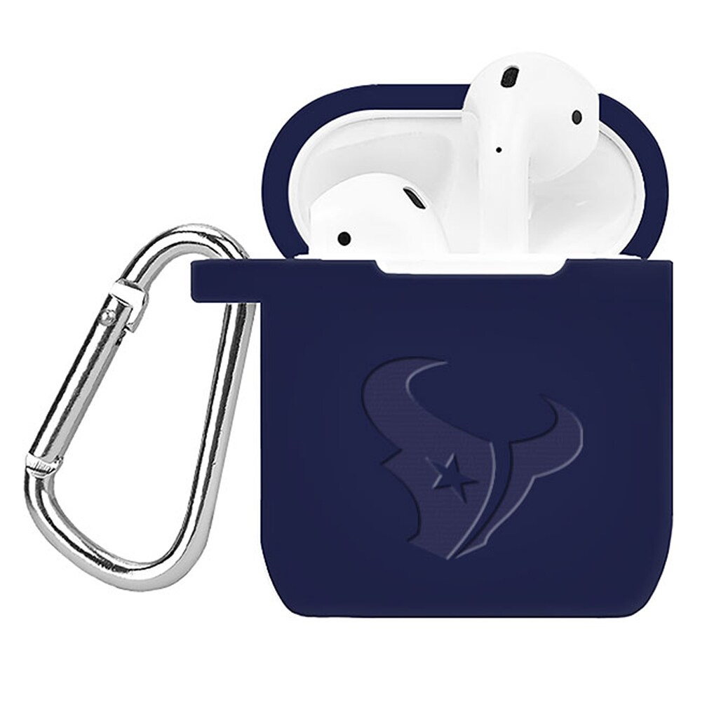 Houston Texans Debossed Silicone Air Pods Case Cover - Navy