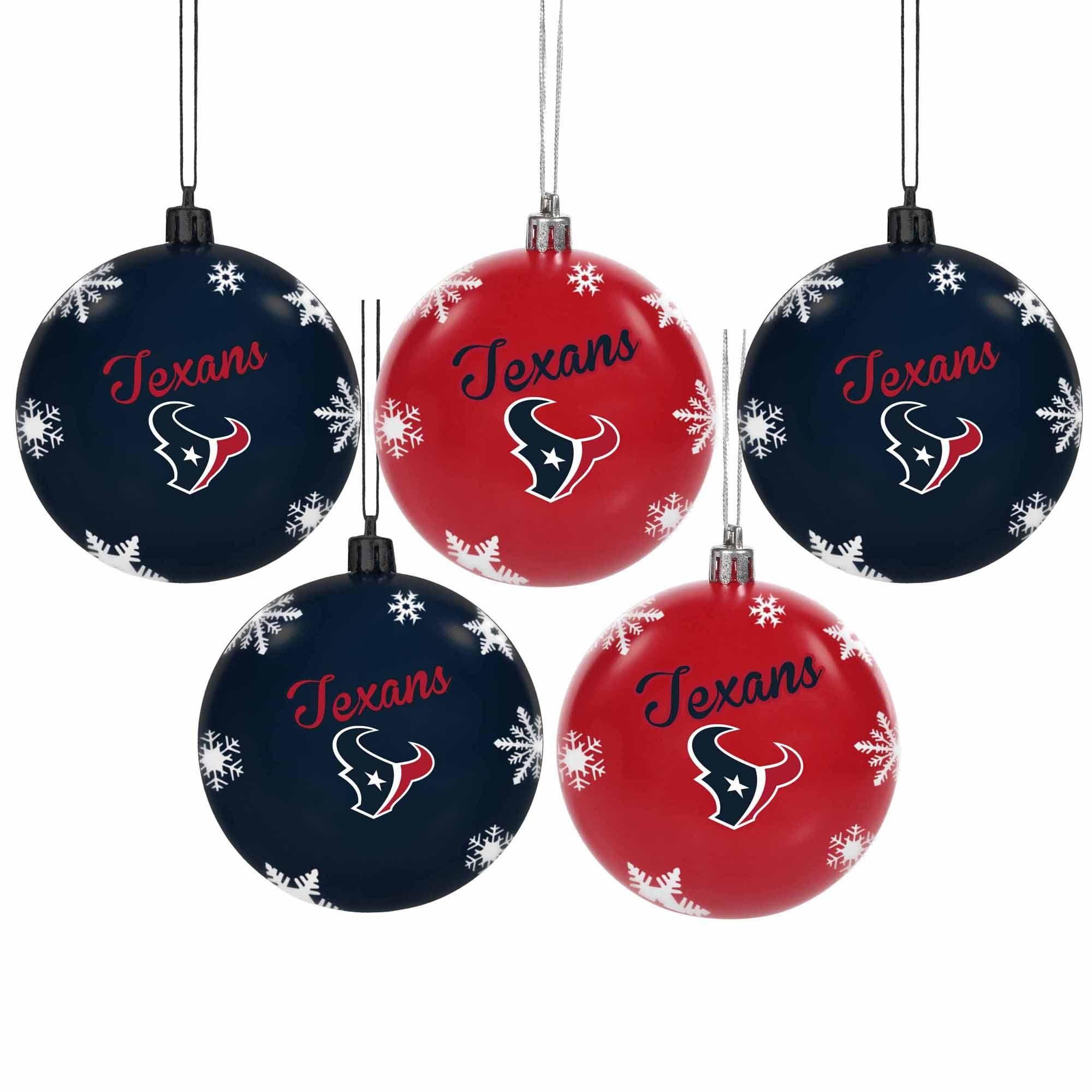 Houston Texans 5-Pack Set of Shatterproof Ball Ornaments