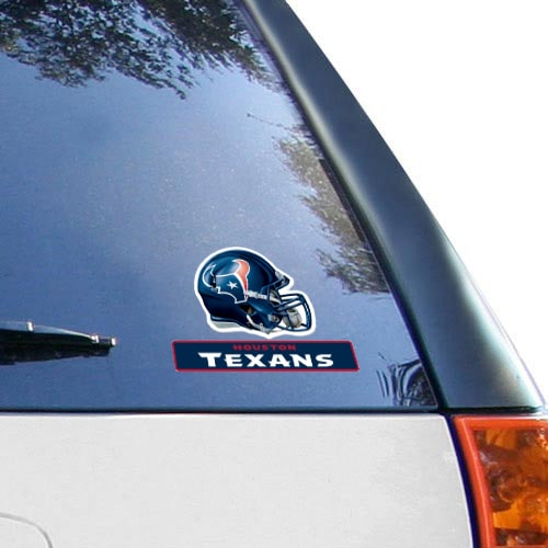 "Houston Texans WinCraft 4"" x 5"" Perfect Cut Helmet Decal"