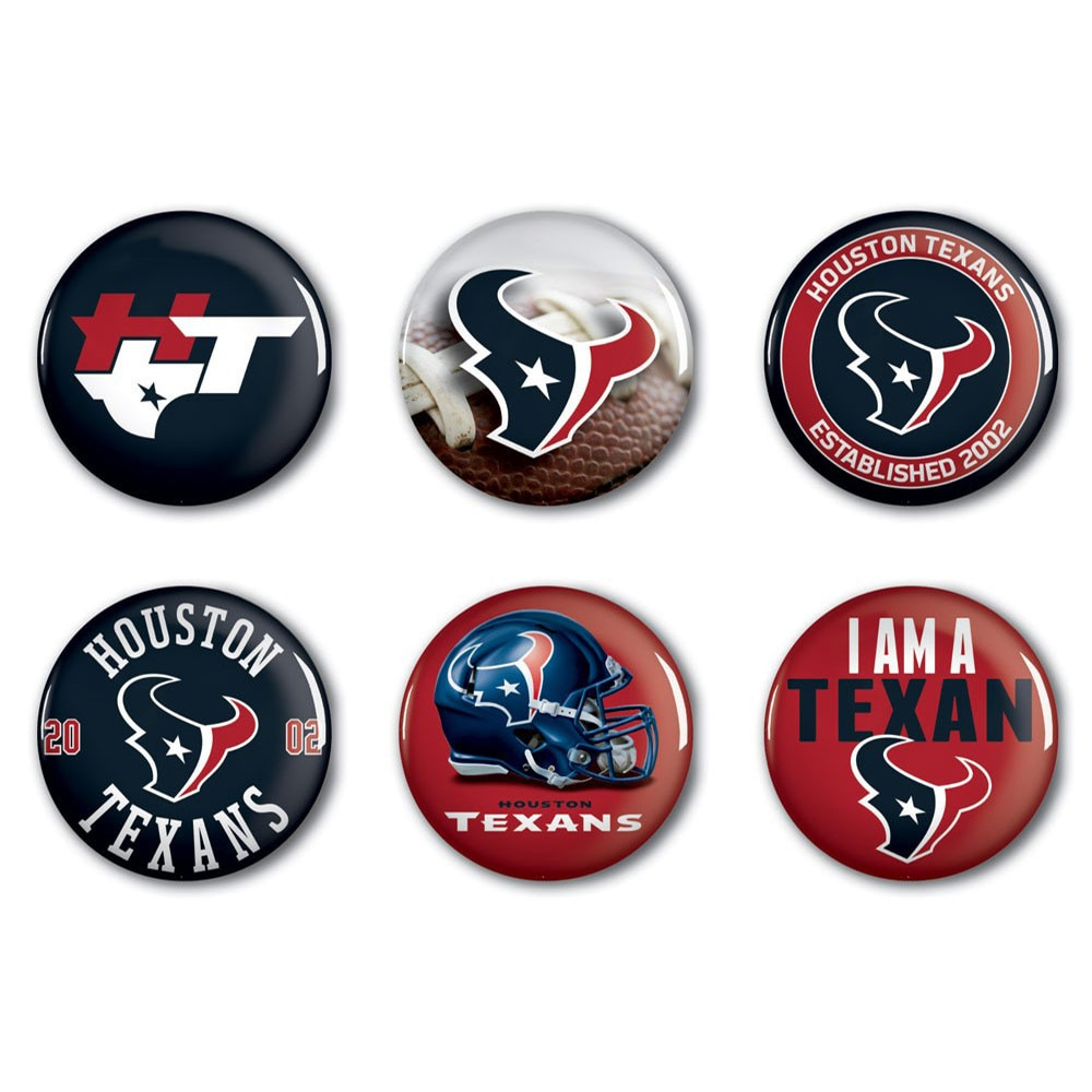 """Houston Texans WinCraft 2"""" Button 6-Pack"""