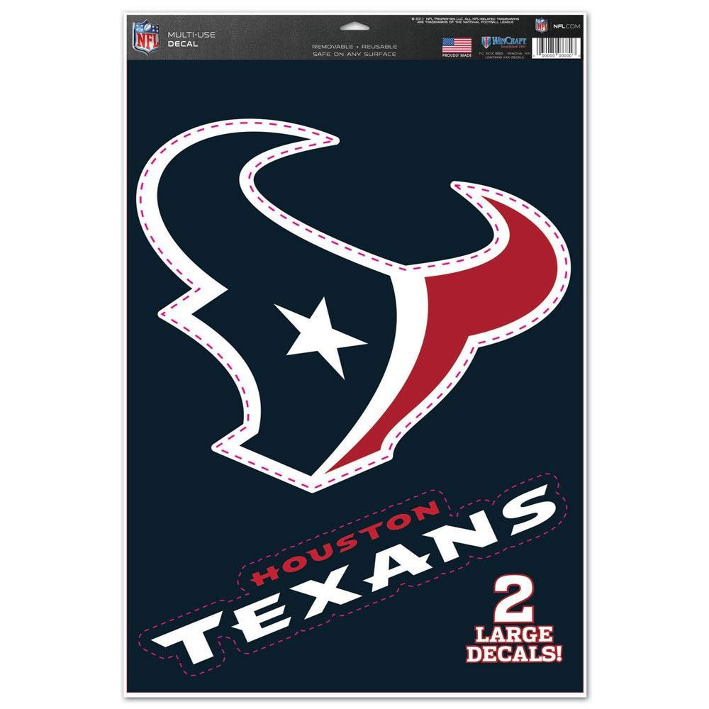 "Houston Texans WinCraft 11"" x 17"" Name & Logo Multi-Use Decal Sheet"
