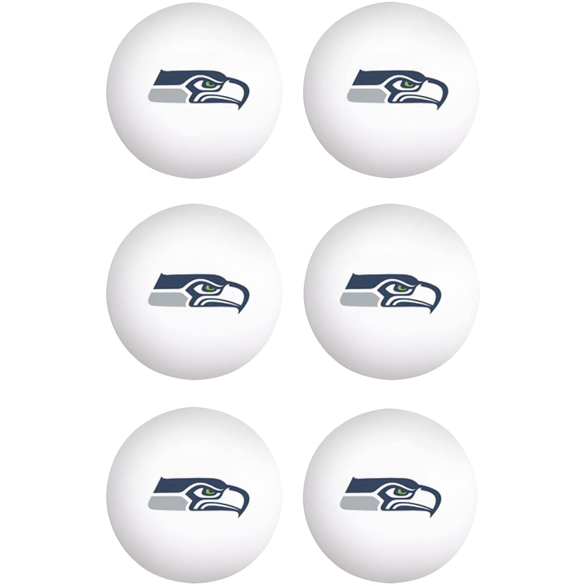 Seattle Seahawks WinCraft 6-Pack Table Tennis Balls