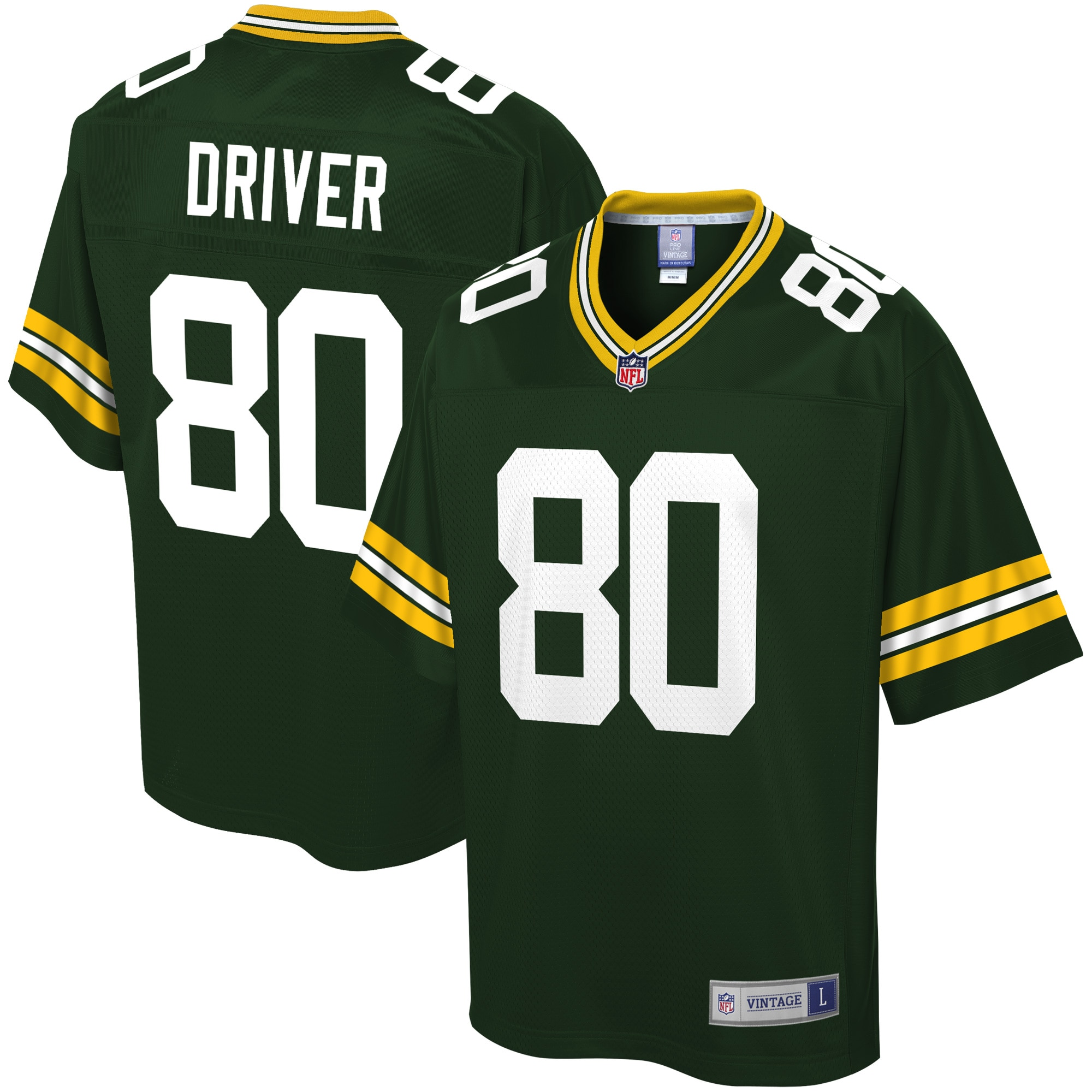 Donald Driver Green Bay Packers NFL Pro Line Retired Player Jersey - Green