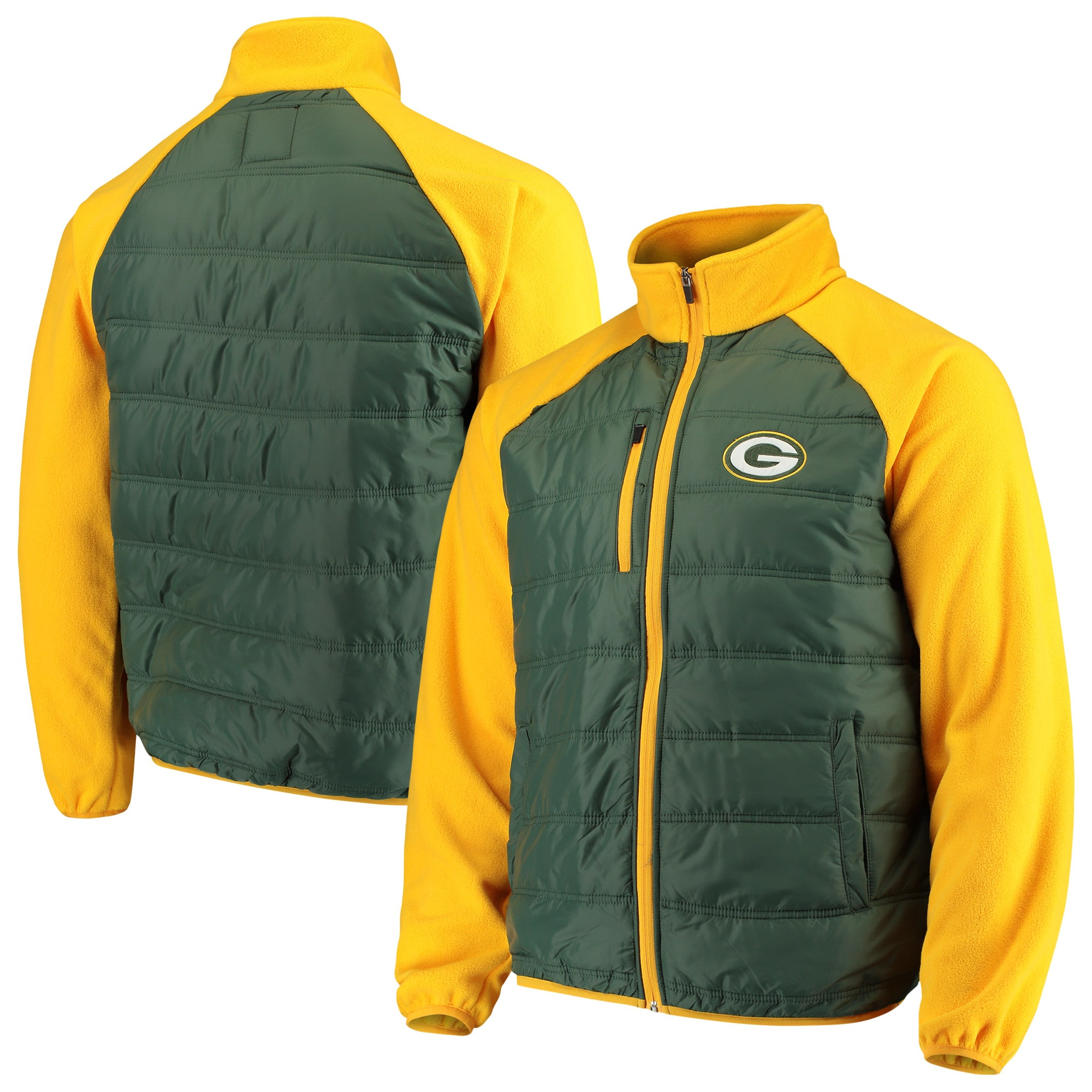 Green Bay Packers G-III Sports by Carl Banks Reinforcer Full-Zip Jacket - Green/Gold