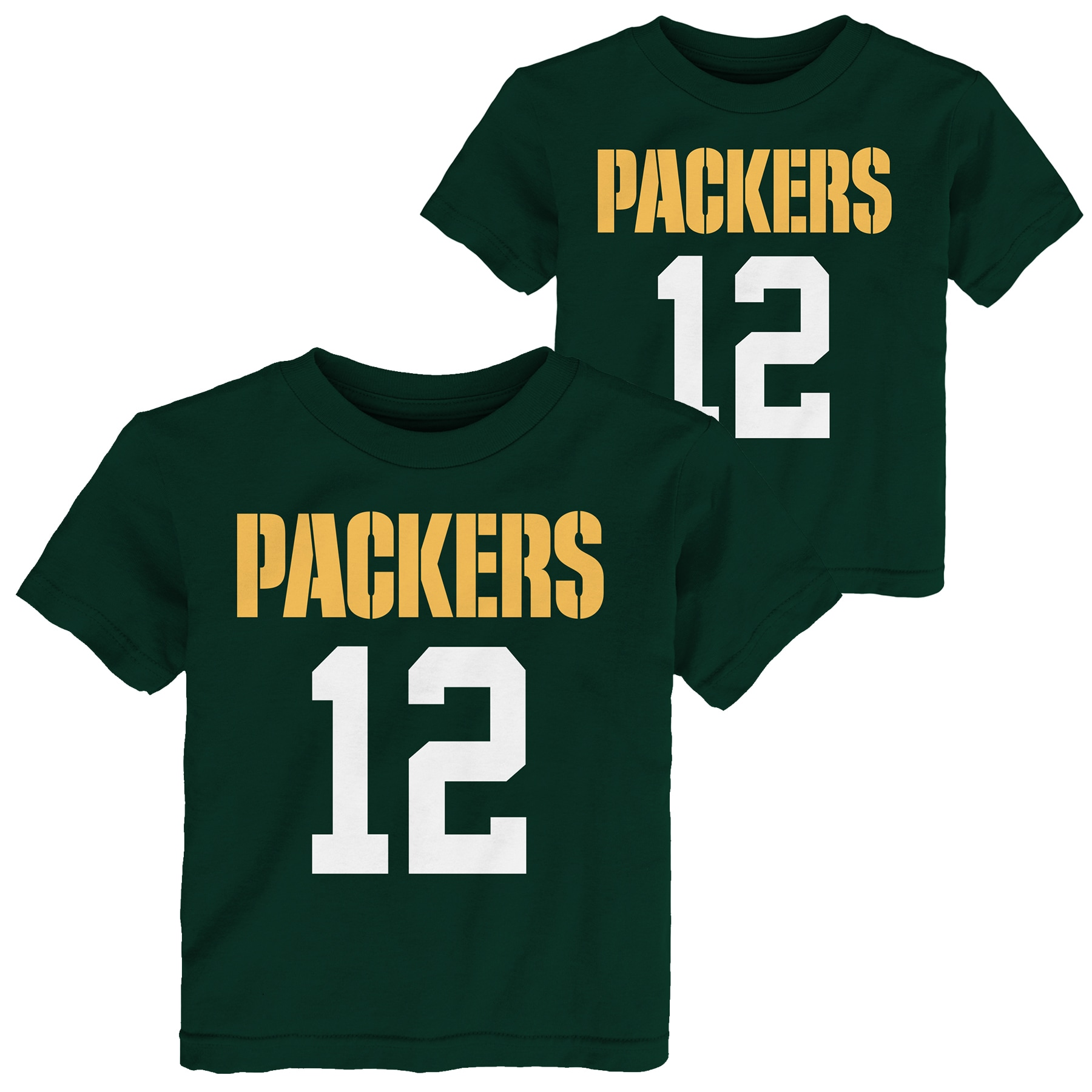 Aaron Rodgers Green Bay Packers Preschool Mainliner Name & Number T-Shirt - Green