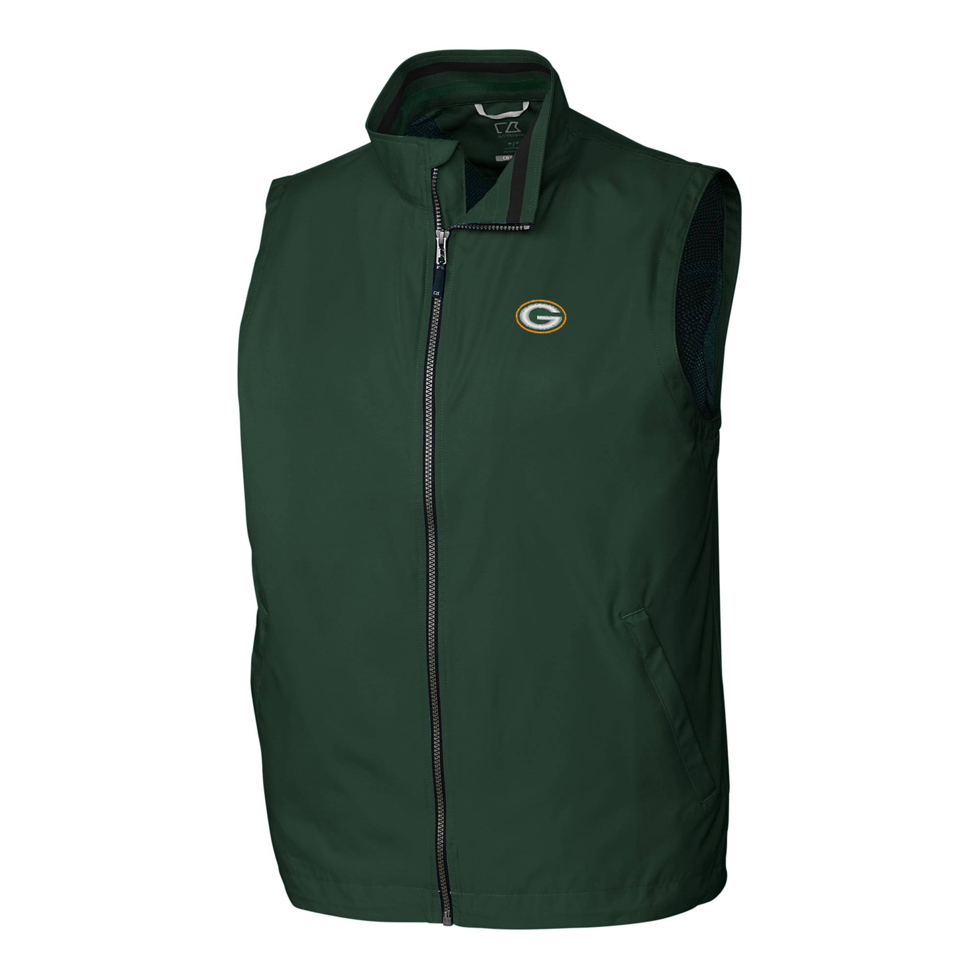 Green Bay Packers Cutter & Buck Big & Tall Nine Iron Full-Zip Vest - Green