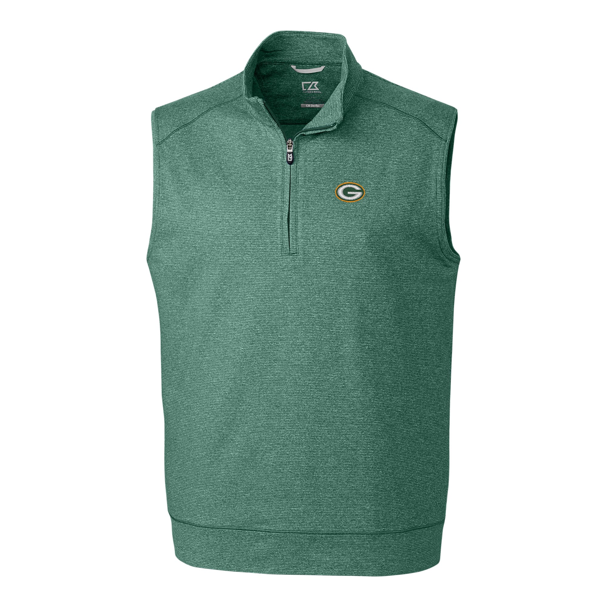 Green Bay Packers Cutter & Buck Big & Tall Shoreline Vest - Heather Green