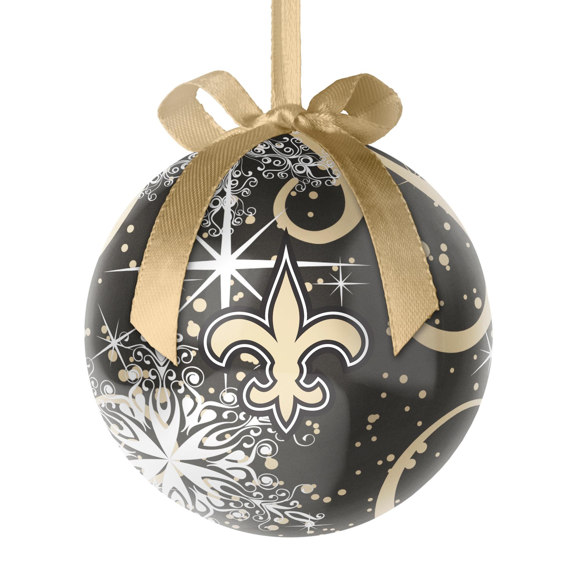 New Orleans Saints Decoupage Ball Ornament