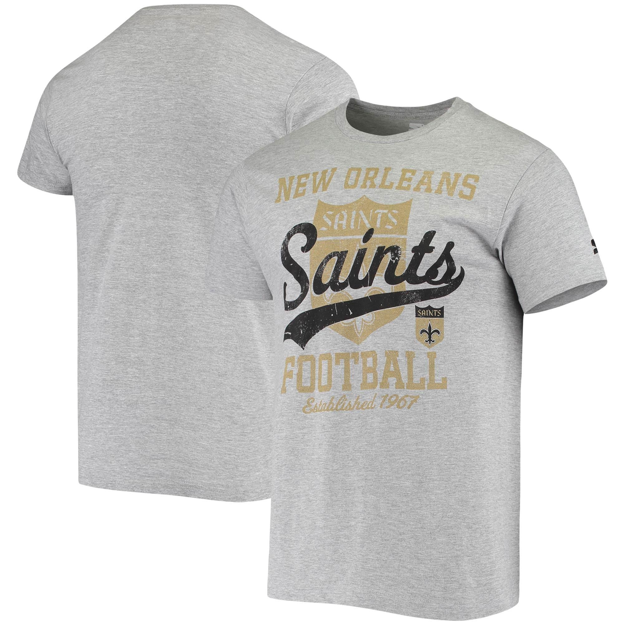 New Orleans Saints Starter Blitz Throwback T-Shirt - Heathered Gray