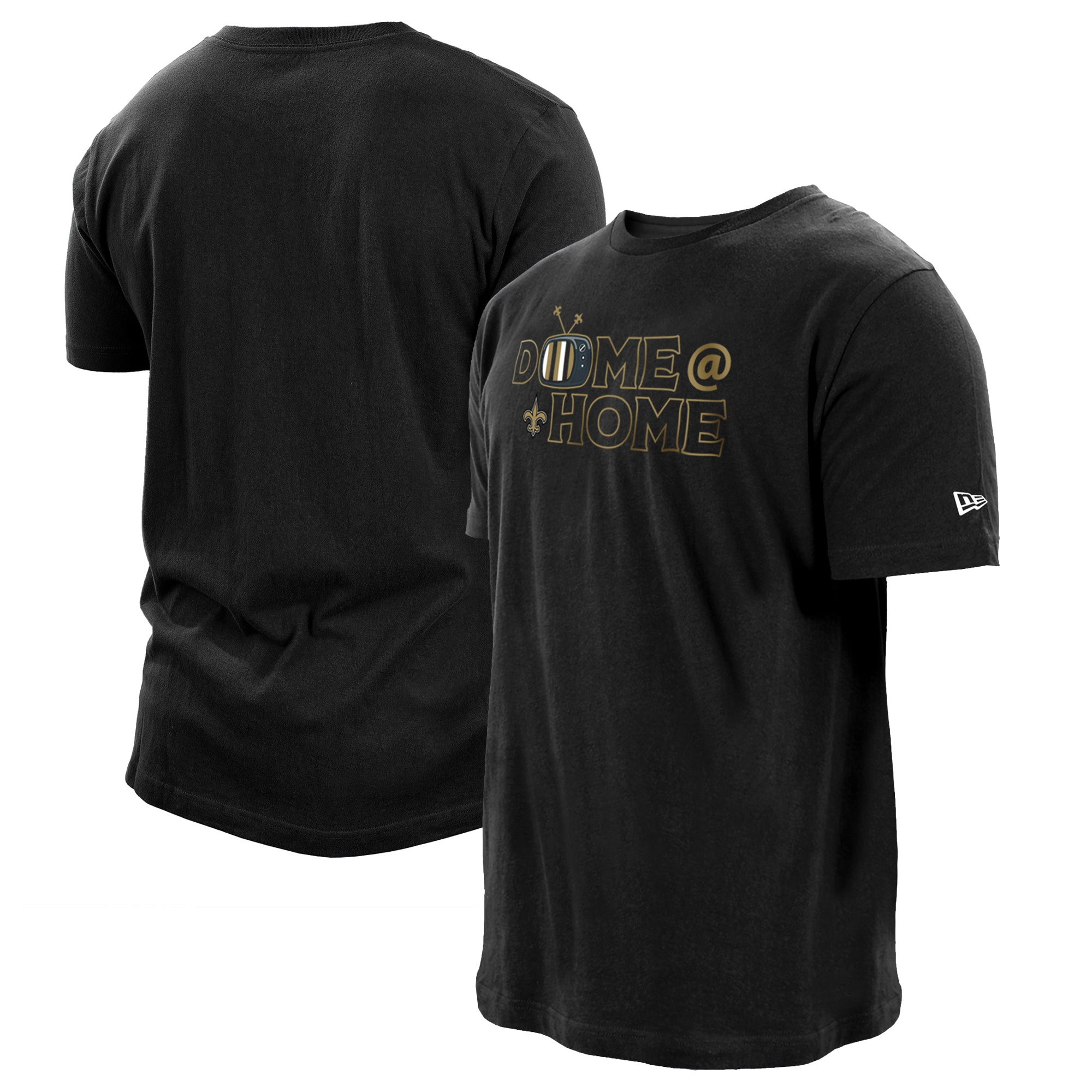 New Orleans Saints New Era Dome at Home T-Shirt - Black
