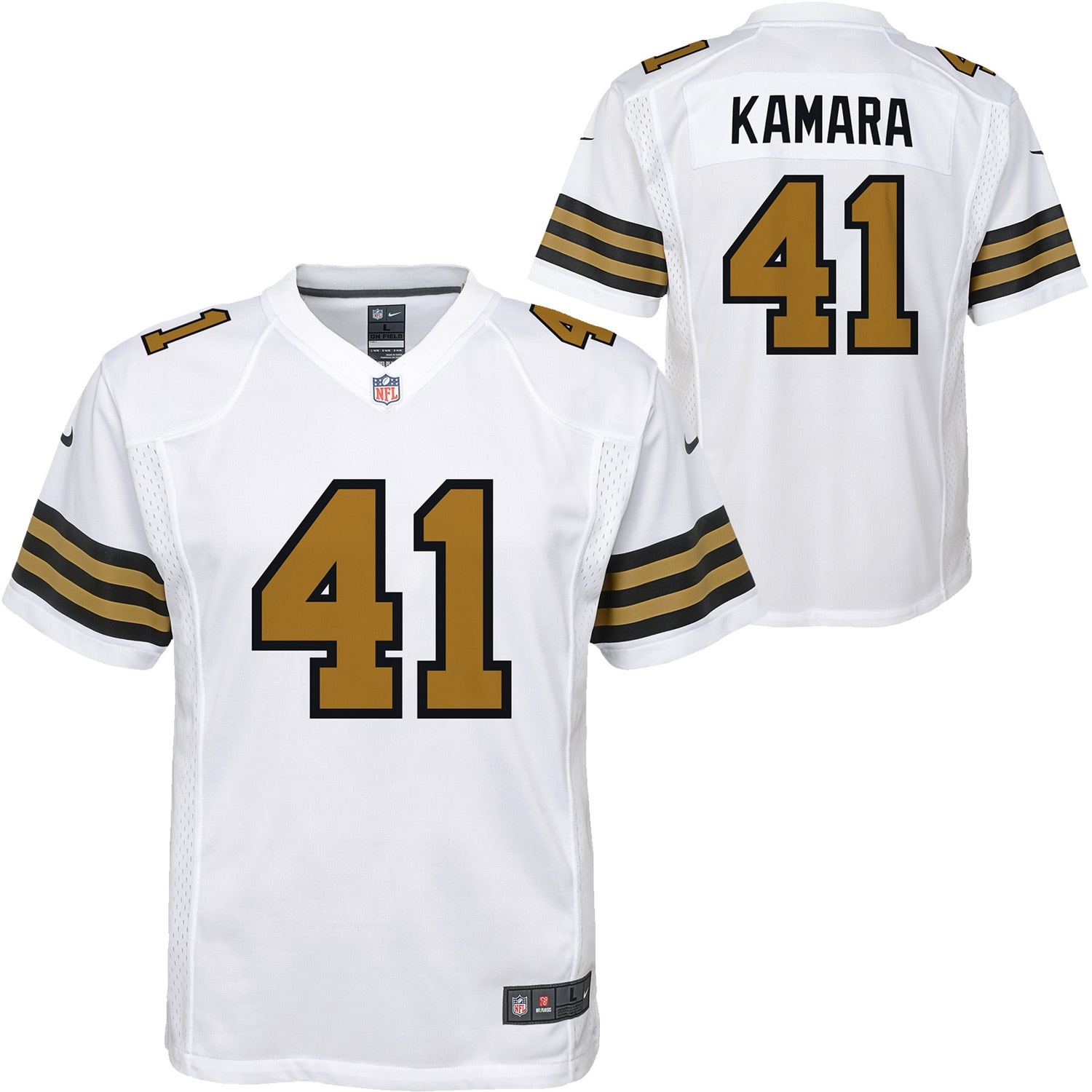 Alvin Kamara New Orleans Saints Nike Youth Color Rush Player Game Jersey - White