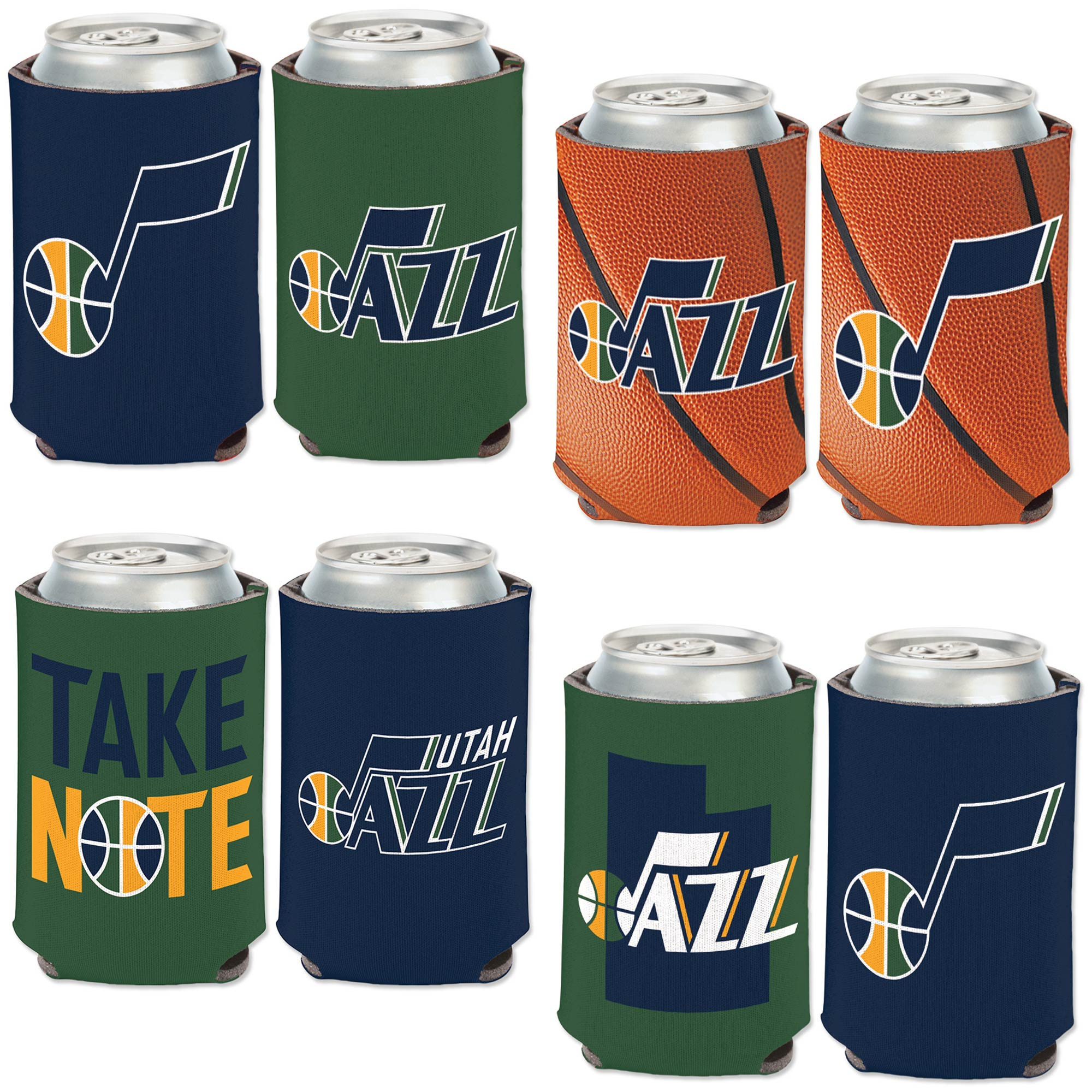 Utah Jazz WinCraft Four-Pack 12 oz. Can Cooler Set