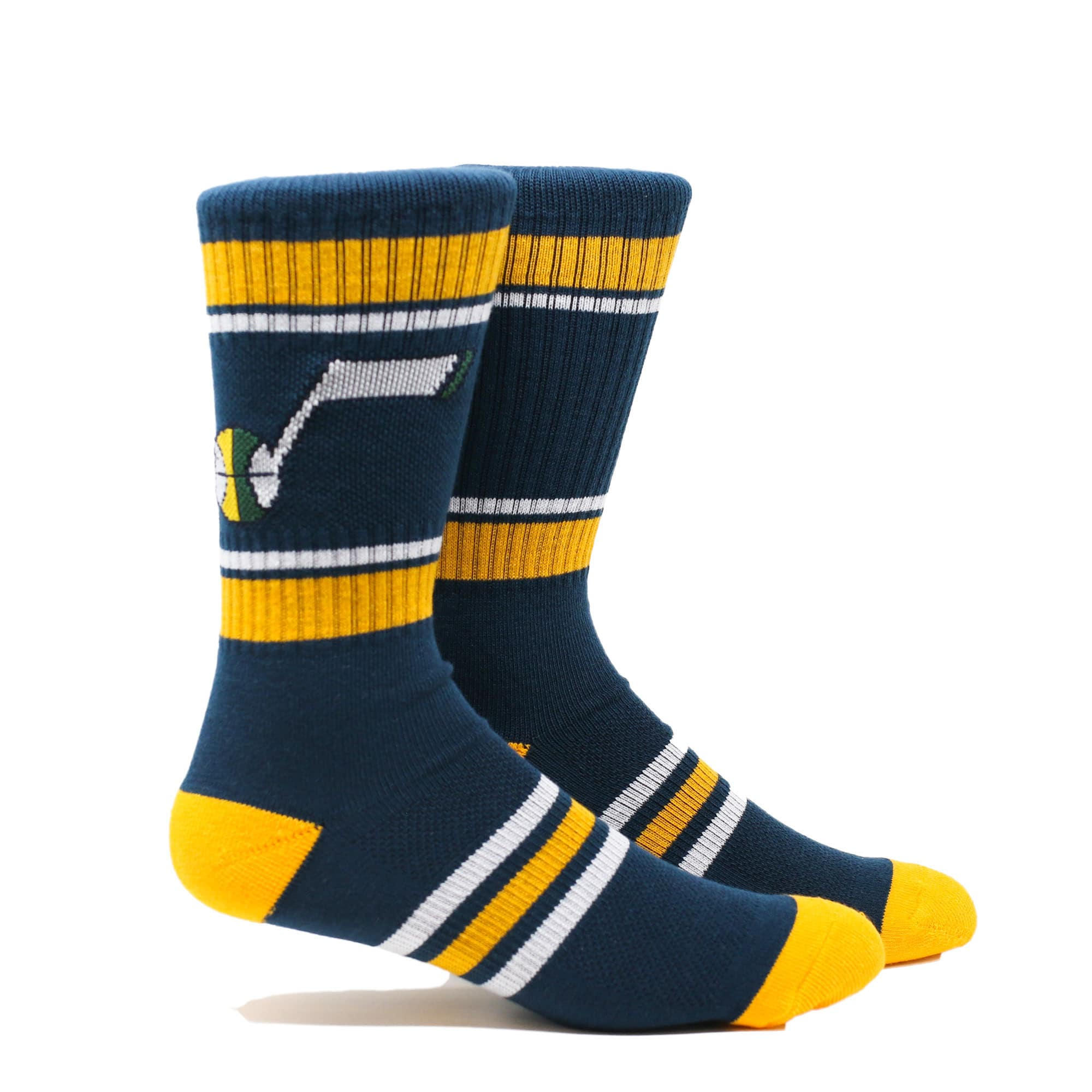 Utah Jazz Stripe Crew Socks - Navy