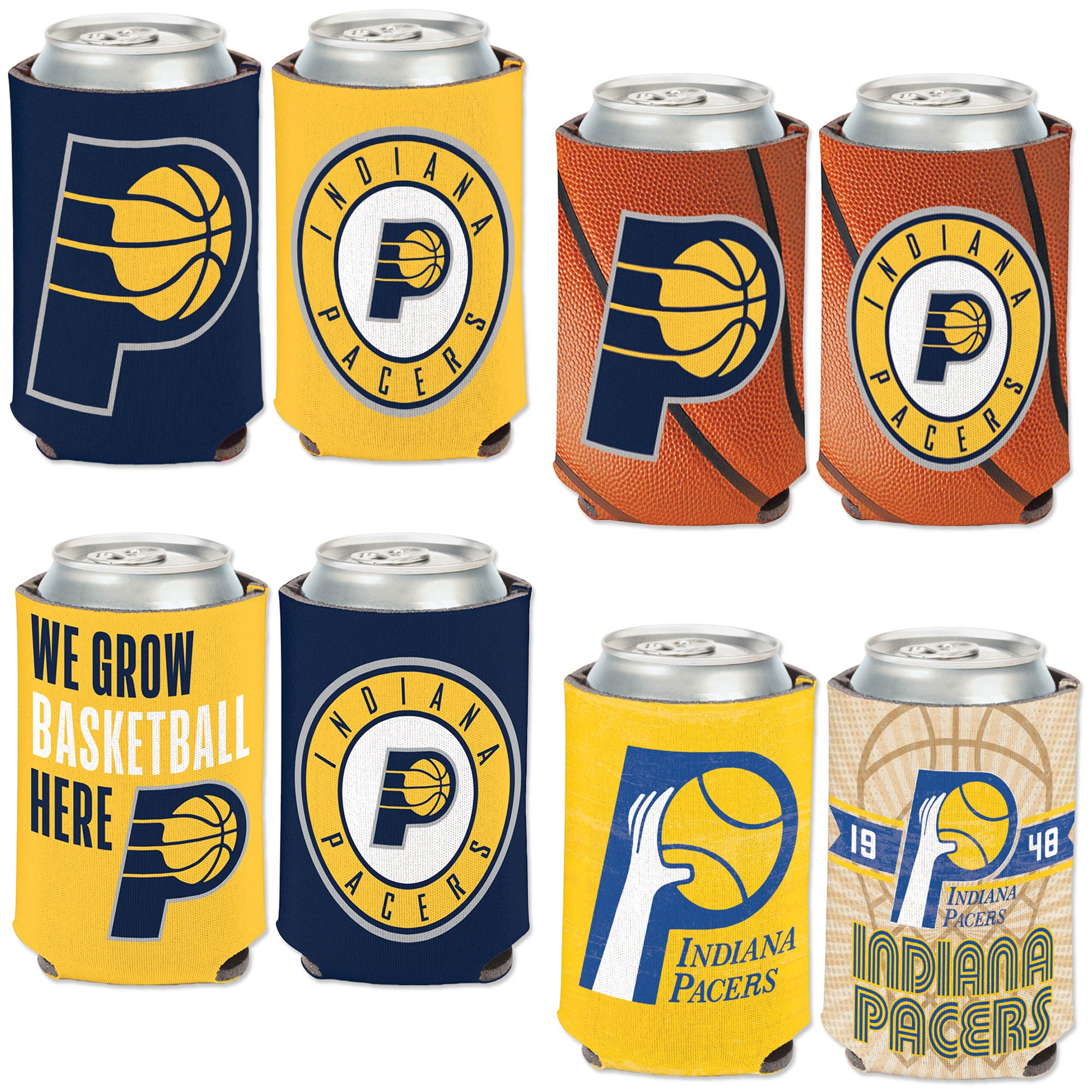 Indiana Pacers WinCraft Four-Pack 12 oz. Can Cooler Set