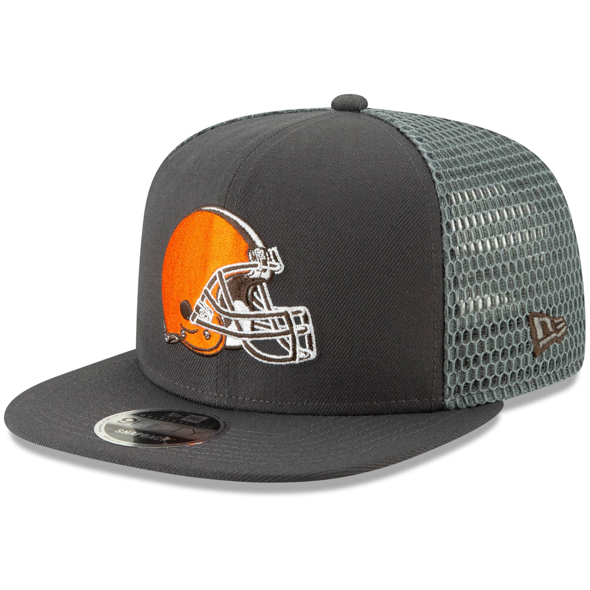 Cleveland Browns New Era Mesh Fresh 9FIFTY Adjustable Snapback Hat - Graphite