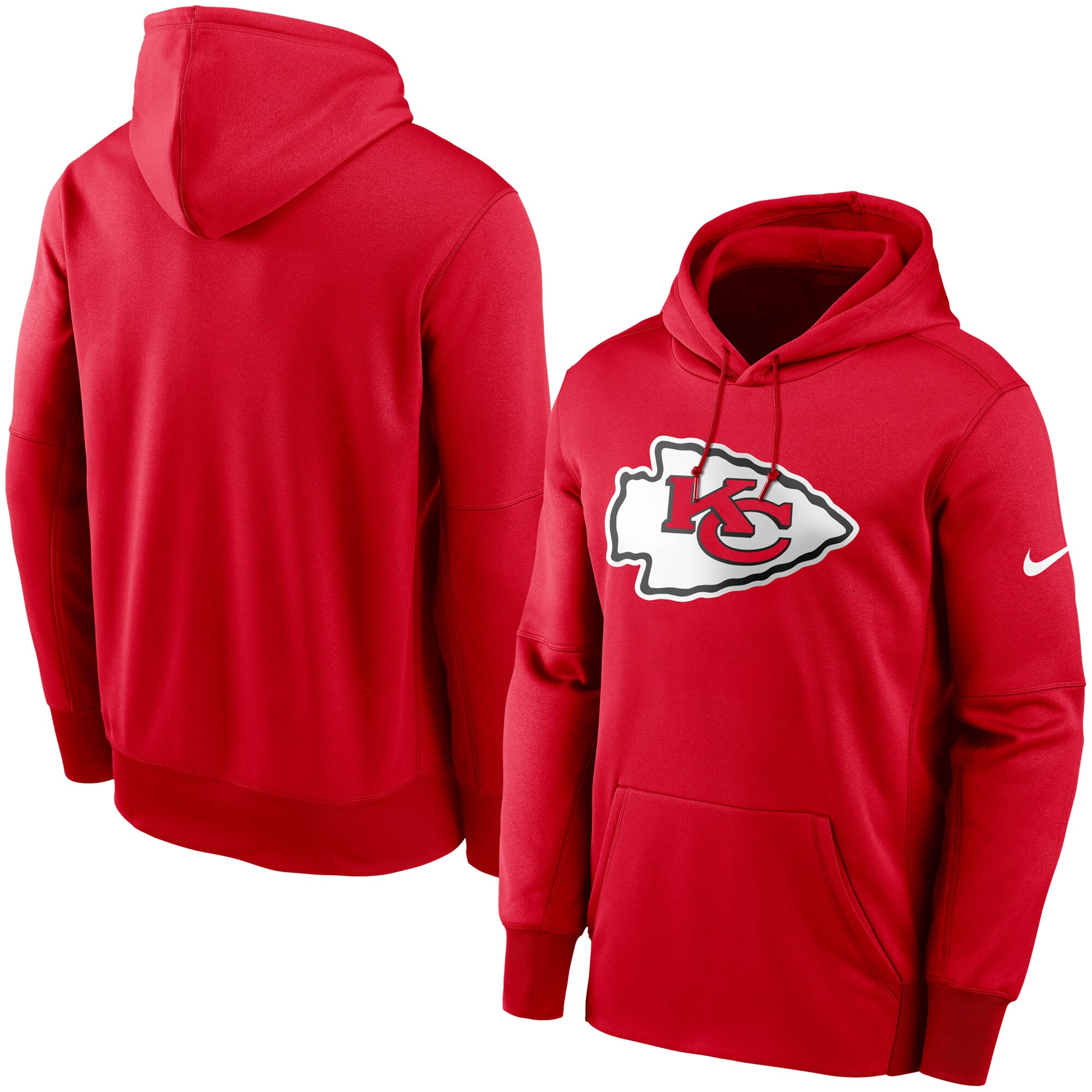 Kansas City Chiefs Nike Fan Gear Primary Logo Therma Performance Pullover Hoodie - Red