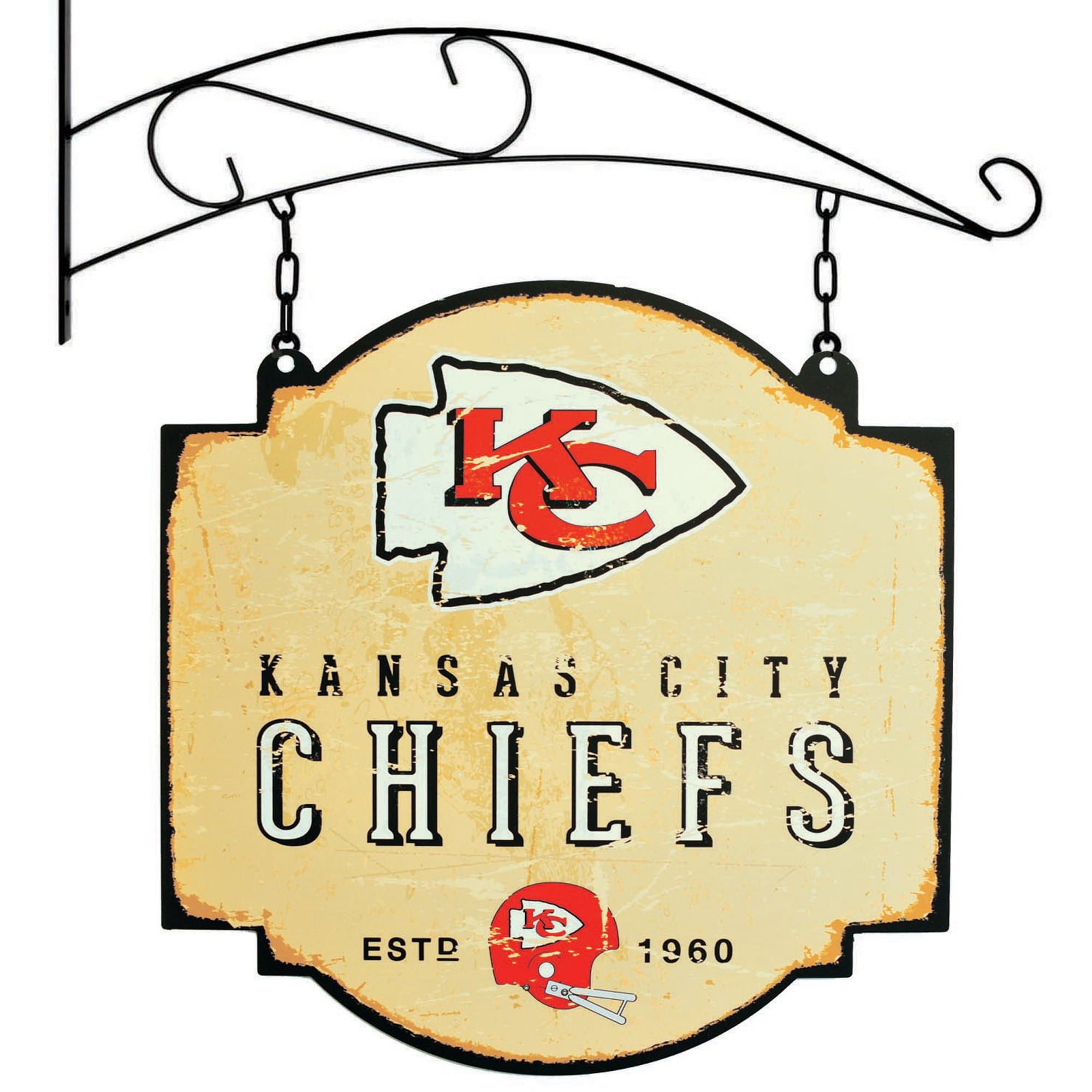 "Kansas City Chiefs 16"" x 16"" Tavern Sign - Cream"
