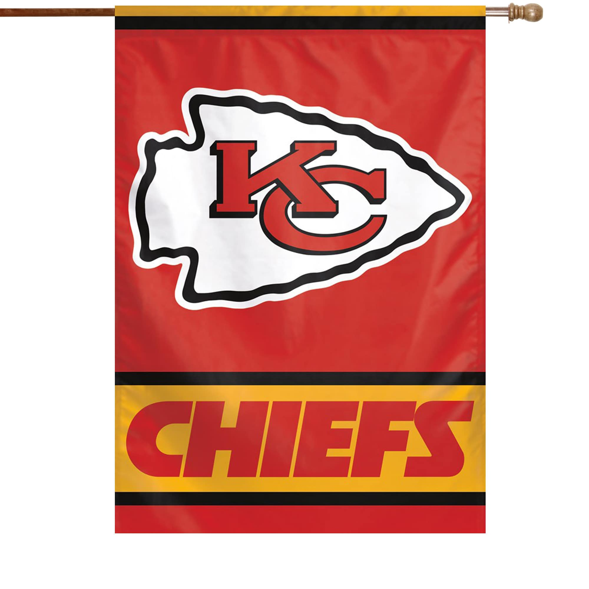 """Kansas City Chiefs WinCraft 28"""" x 40"""" Primary Logo Single-Sided Vertical Banner"""