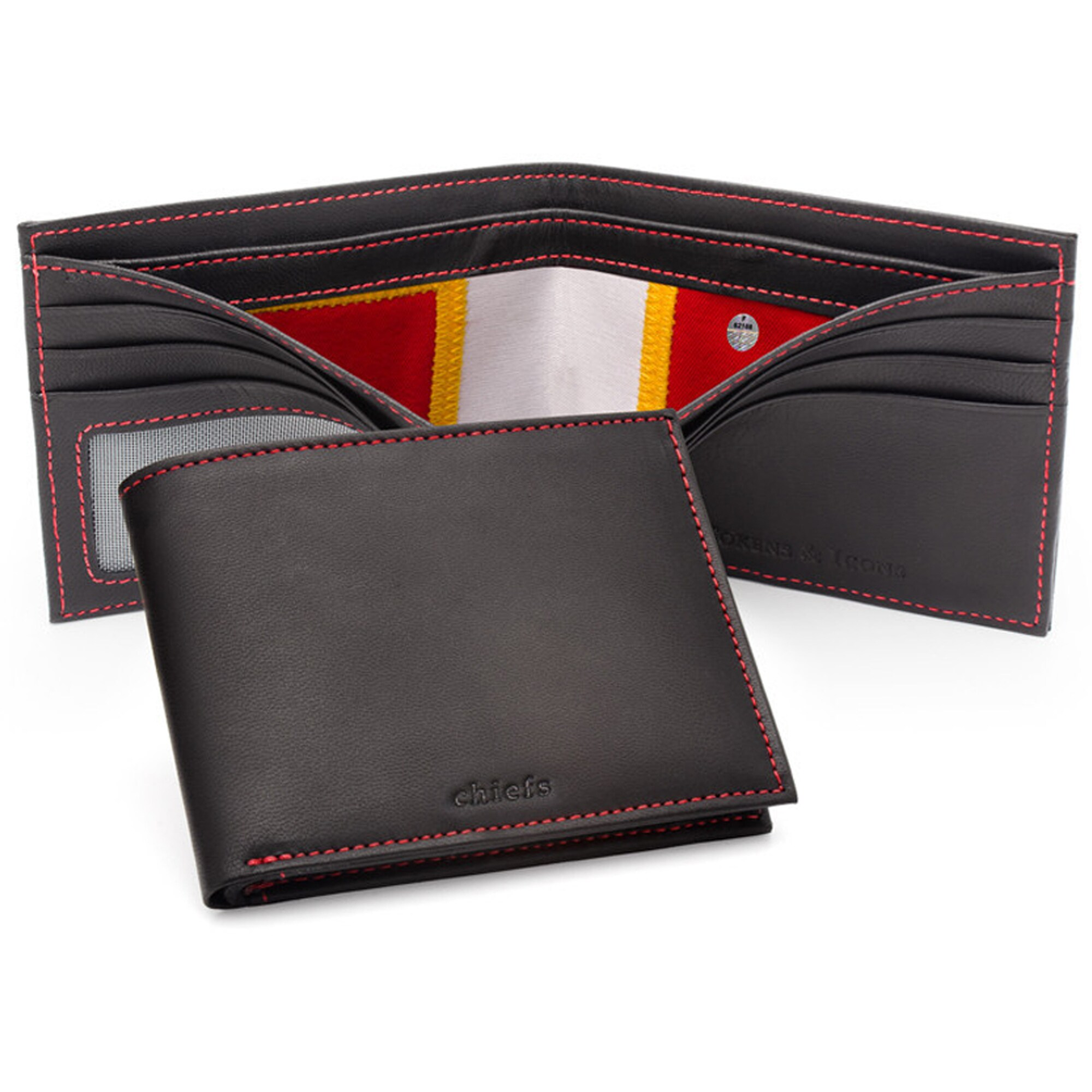 Kansas City Chiefs Tokens & Icons Game-Used Uniform Leather Wallet