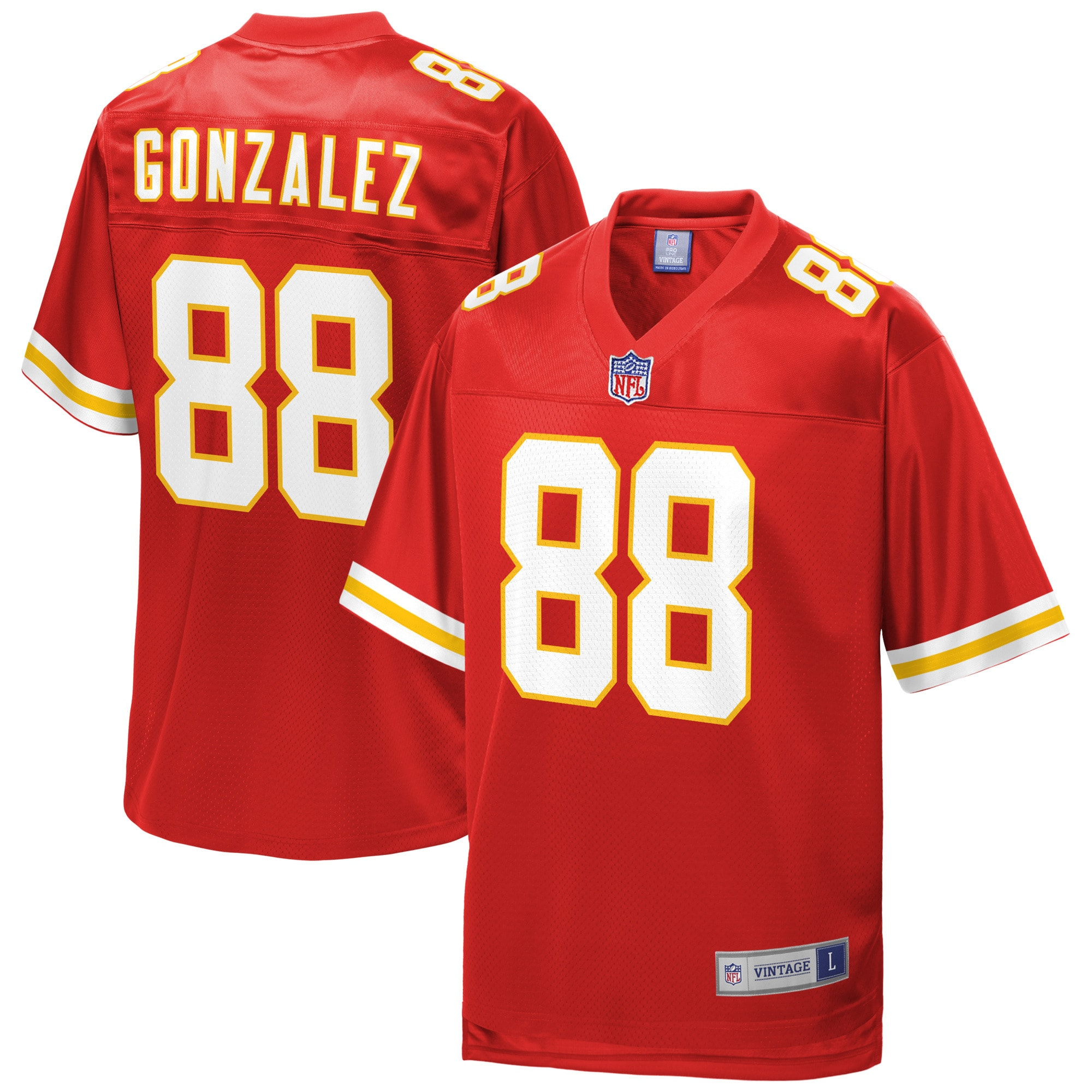 Tony Gonzalez Kansas City Chiefs NFL Pro Line Retired Player Replica Jersey - Red