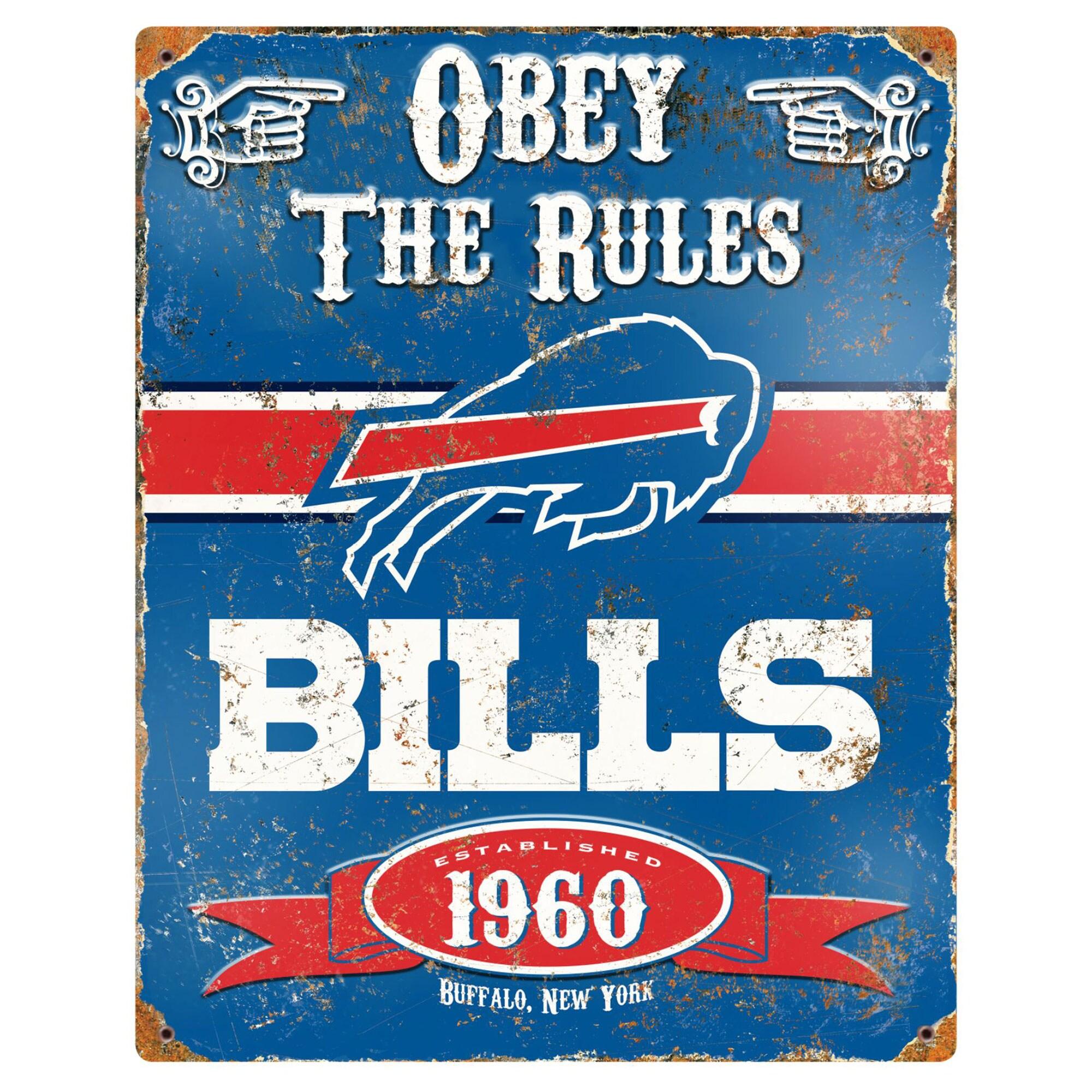 Buffalo Bills 14.5'' x 11.5'' Embossed Metal Sign