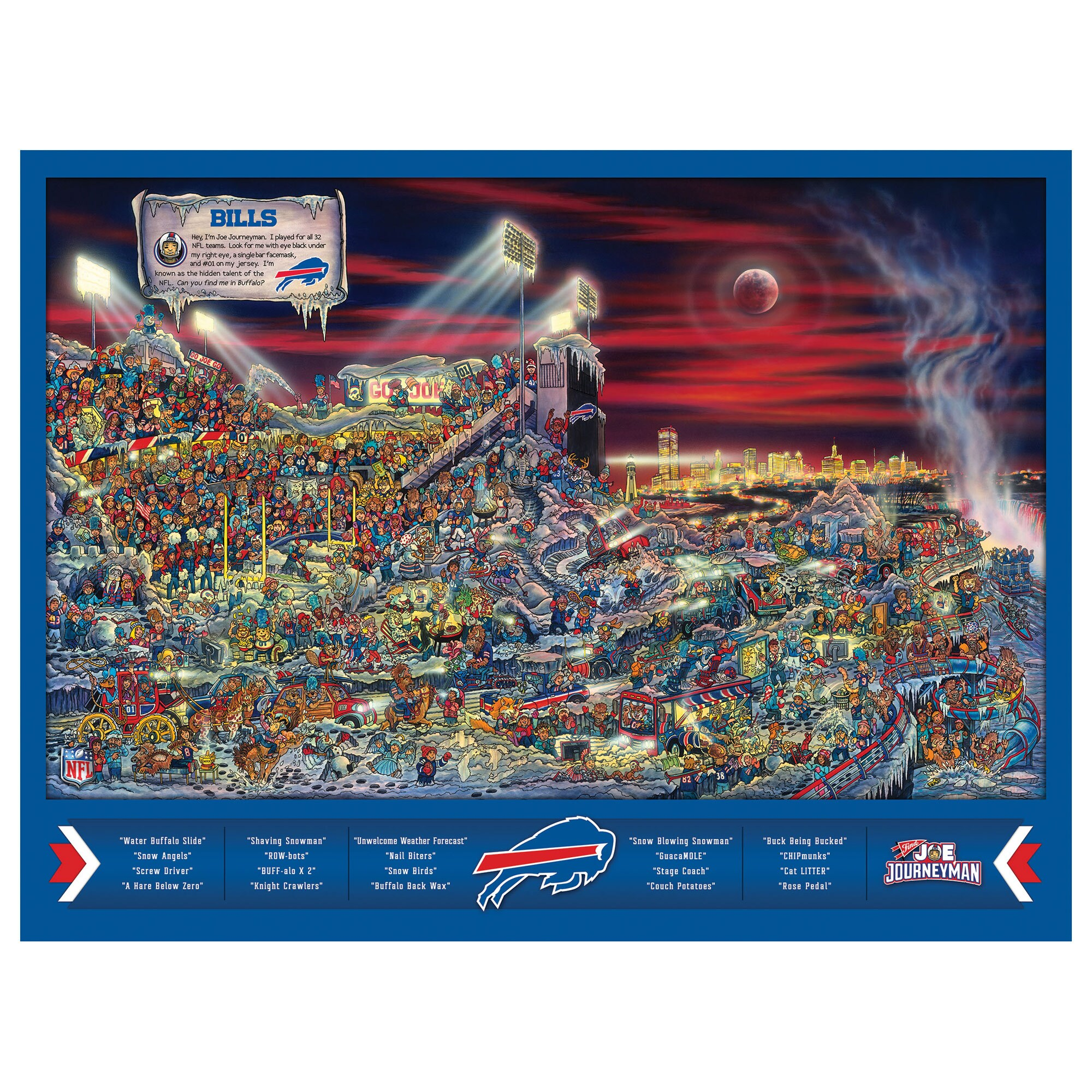 Buffalo Bills 500-Piece Joe Journeyman Puzzle