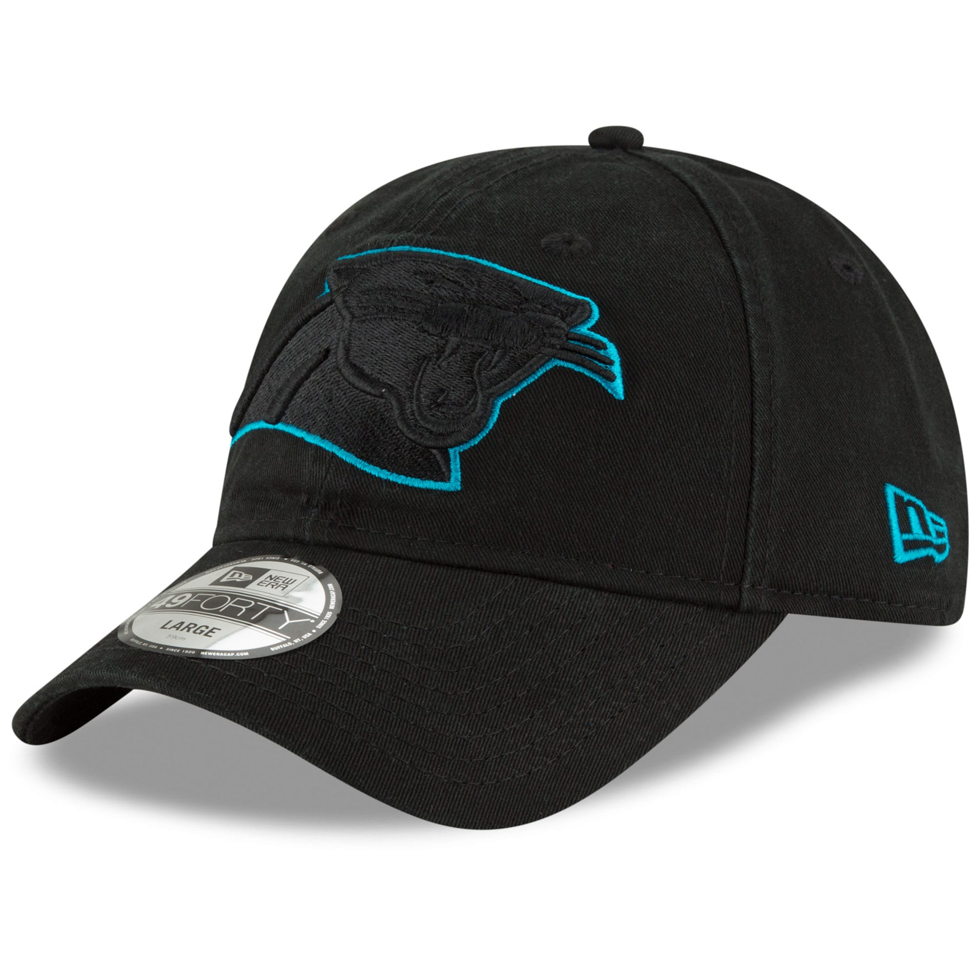 Carolina Panthers New Era Core Pop 49FORTY Fitted Hat - Black
