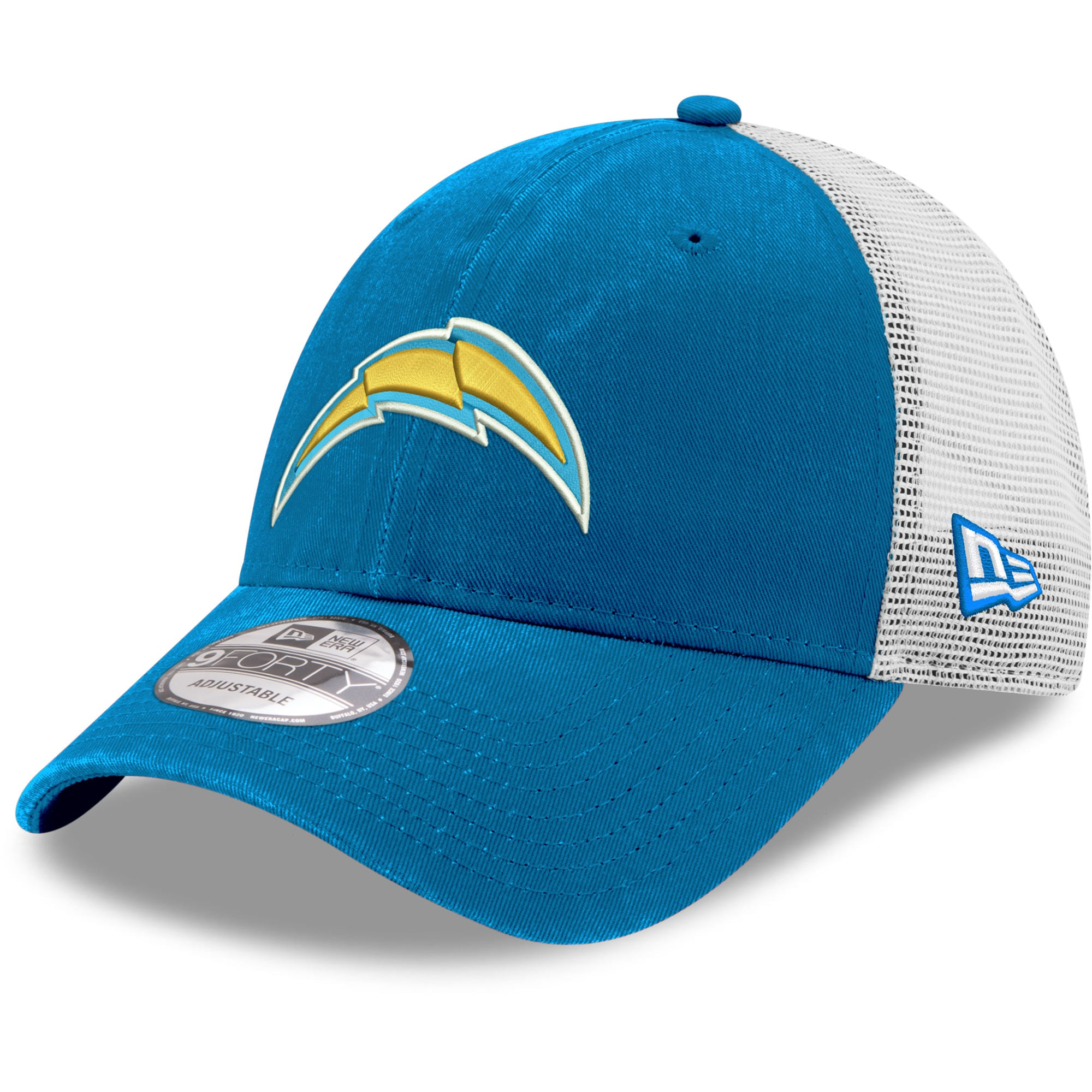 Los Angeles Chargers New Era Blue Trucker 9FORTY Adjustable Hat - Blue/Gray