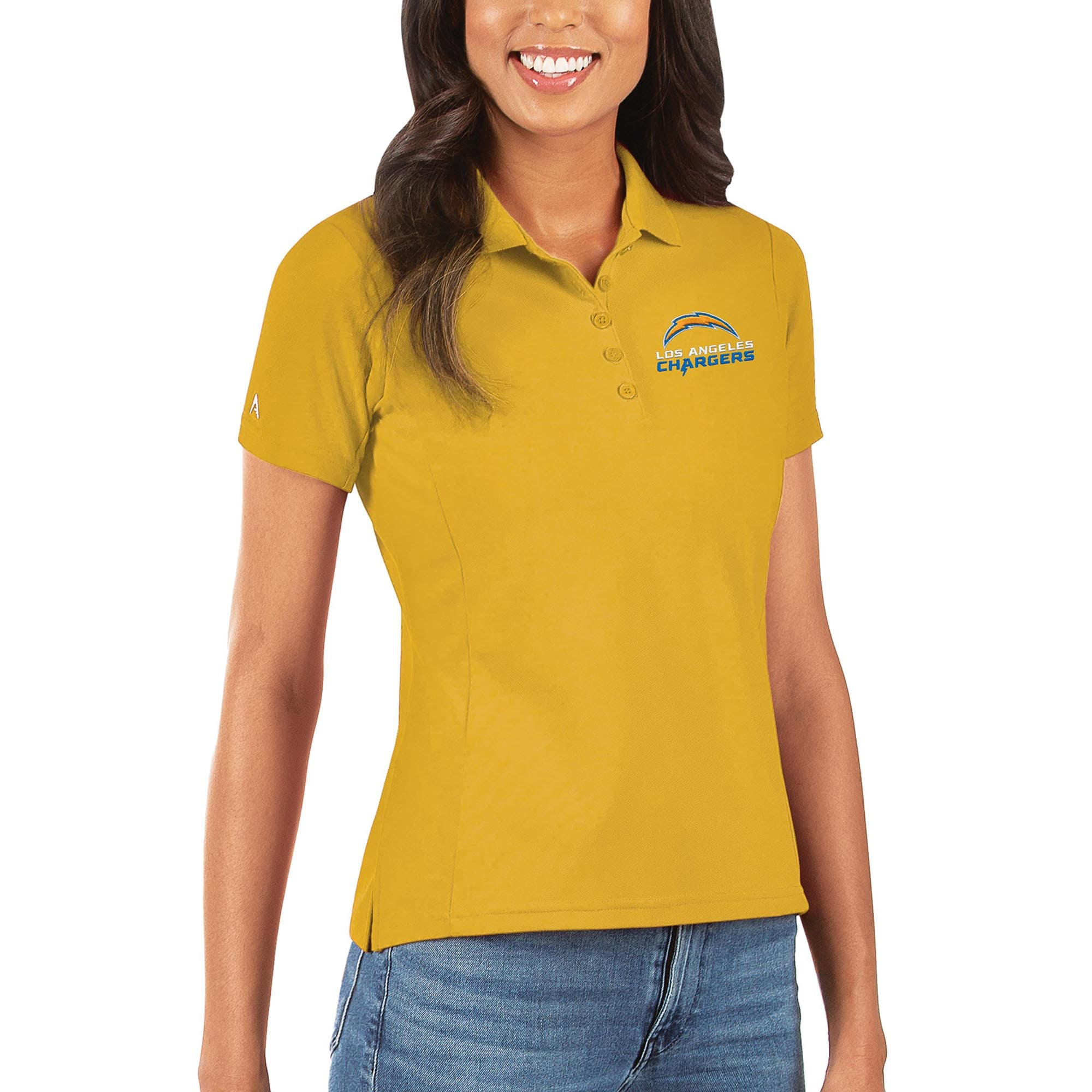 Los Angeles Chargers Antigua Women's Legacy Pique Polo - Gold